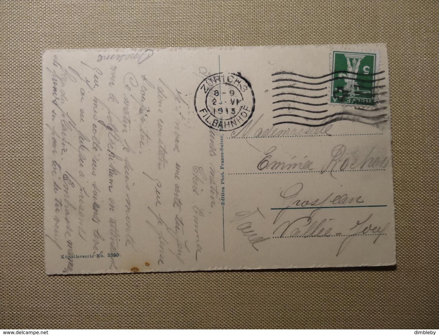 Zürich - Polytechnikum Künstlerserie N° 3390  Franco Suisse 1913  (5514) - ZH Zurich