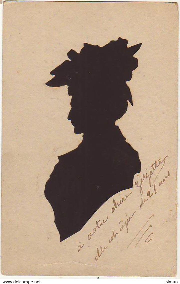 N°12712 - Silhouette - Femme Portant Un Chapeau - Silhouettes
