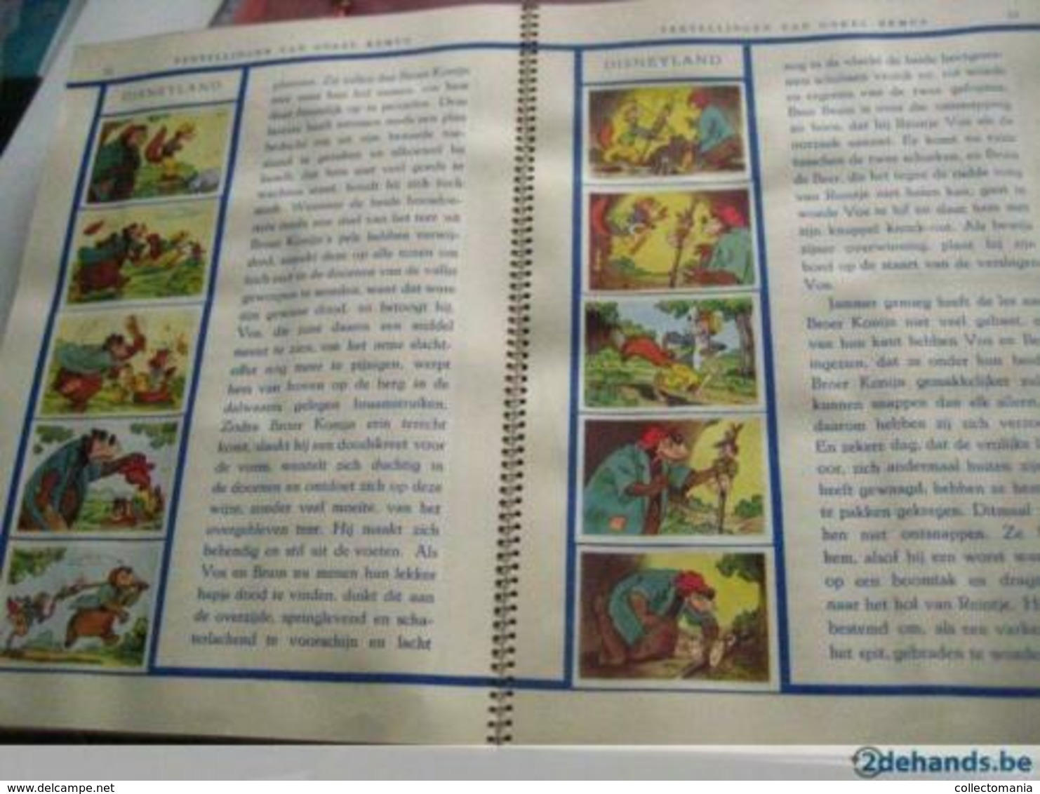 1 Full Compl Set 133 Small & 10 Big, 5 Stories Disneyland, De Beukelaer, Peter &  Wolf, Donkey,album C1950 SPLENDID - Chocolate