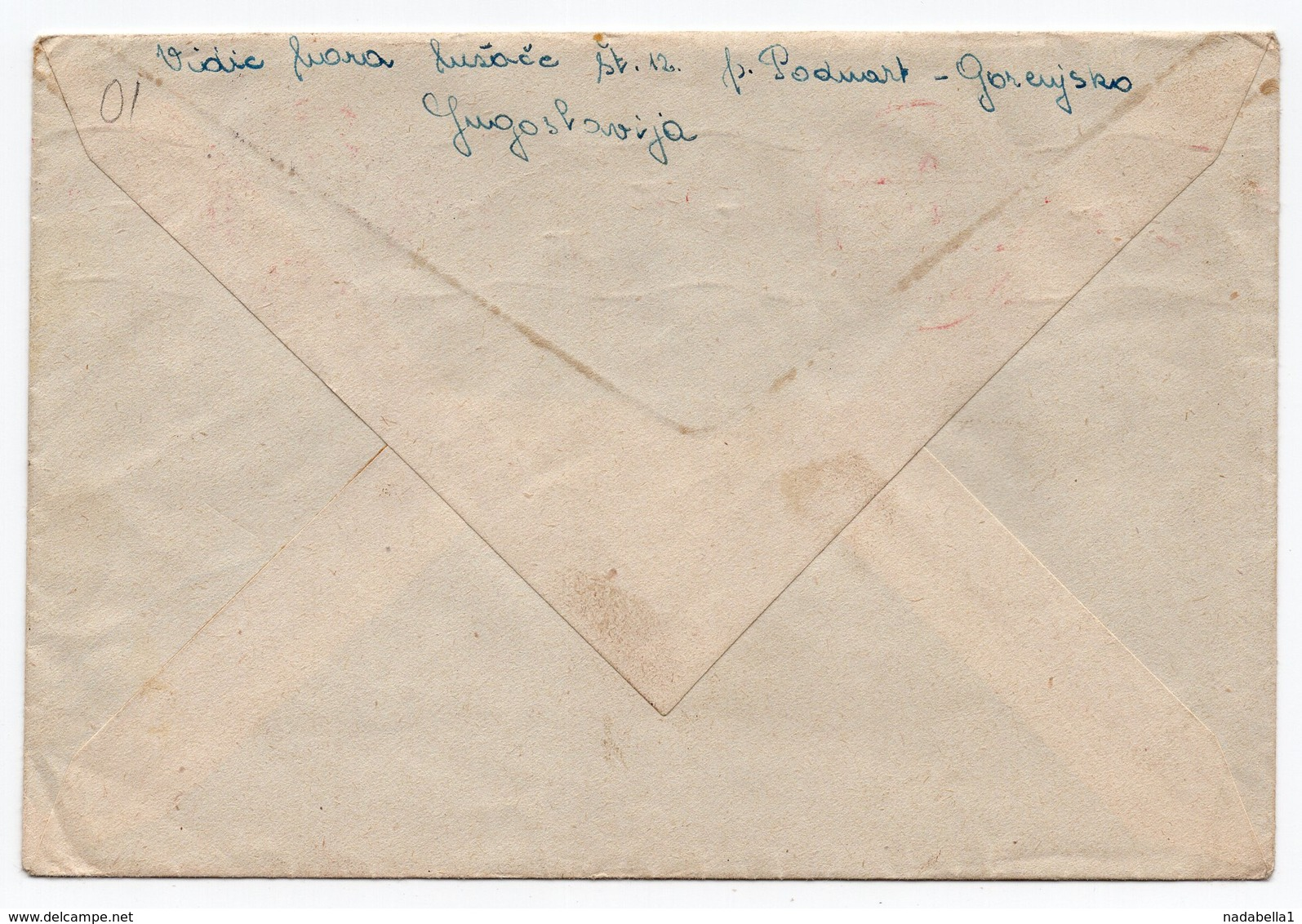 1947 YUGOSLAVIA, SLOVENIA, PODNART TO GERMANY, CENSORED, US CIVIL CENSORSHIP, MUNICH - 1945-1992 Socialist Federal Republic Of Yugoslavia