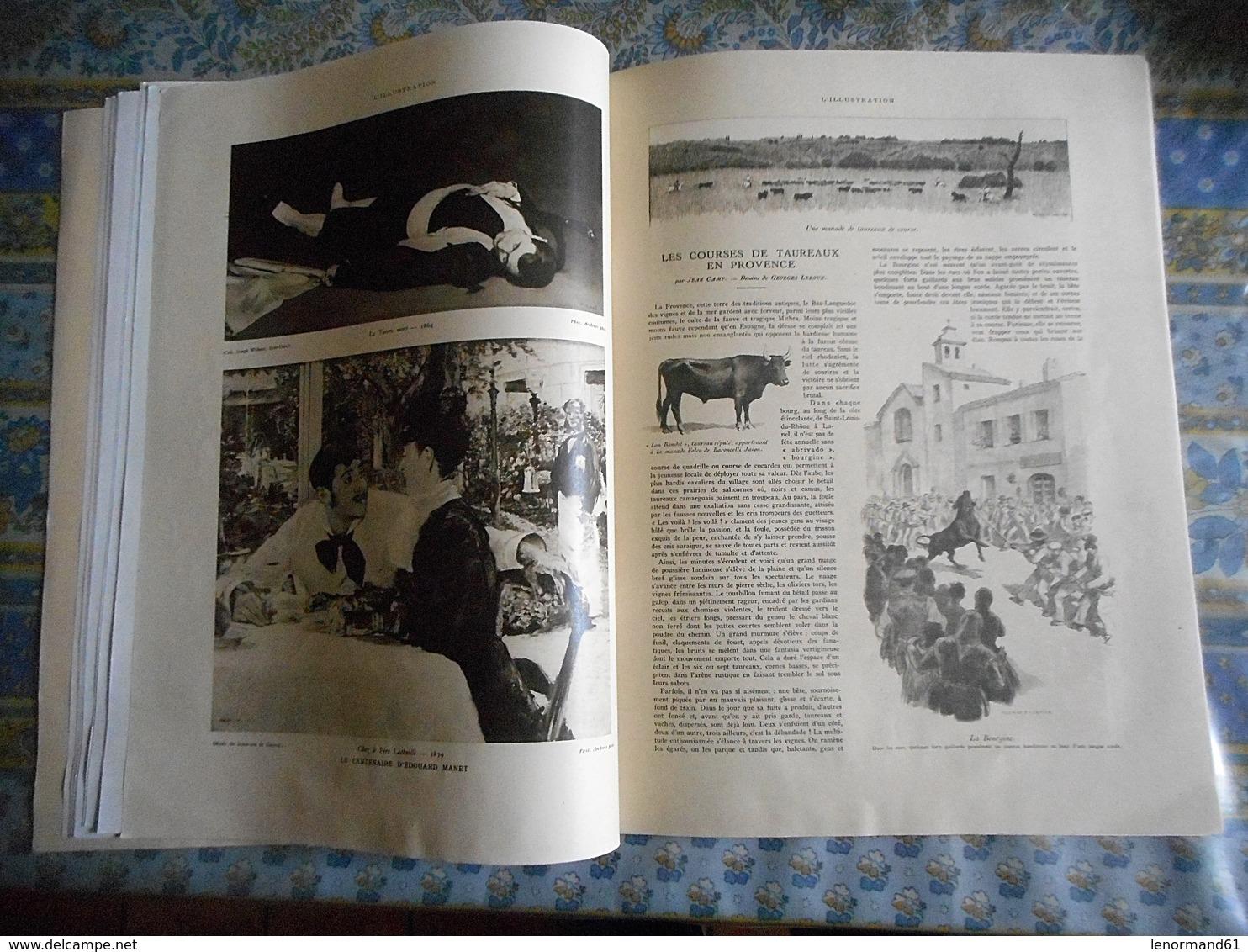 L ILLUSTRATION 09/07/1932 FEMME JOCKEY MAISONS LAFITTE FOCH LISIEUX ASSOUAN EGYPTE NIL MANET ARLES TAUREAU VENDEE AUVERG - Journaux - Quotidiens