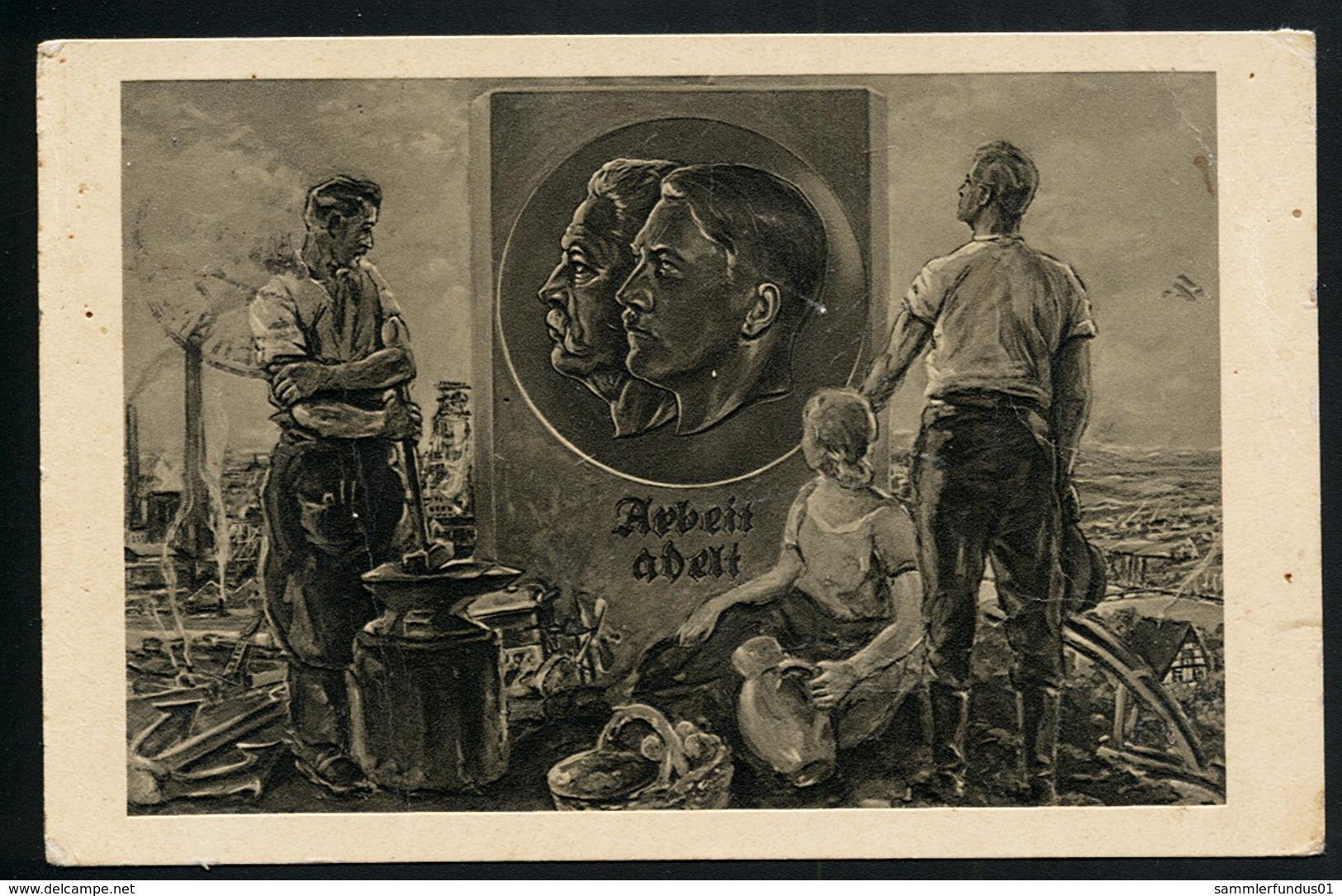 AK/CP Propaganda  Hitler  Nazi    Gel/circ.1936   Erhaltung/Cond. 3  Nr. 00781 - Guerre 1939-45