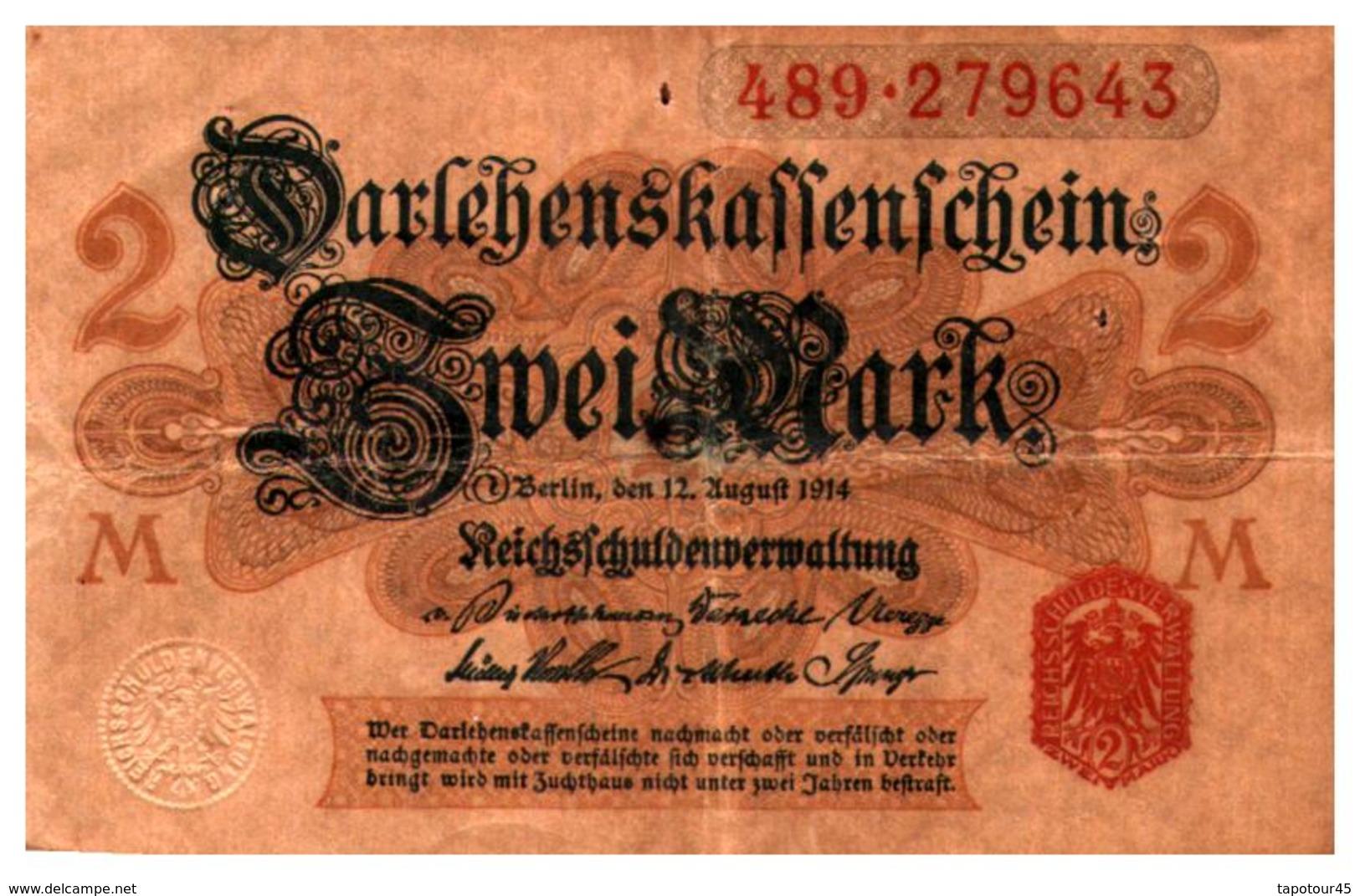 Billets > Allemagne > 2 Mark 1914 - [ 2] 1871-1918 : German Empire