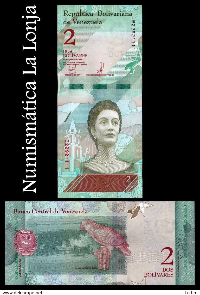 Venezuela Lot Bundle 10 Banknotes 2 Bolívares 2018 Pick 101 SC UNC - Venezuela