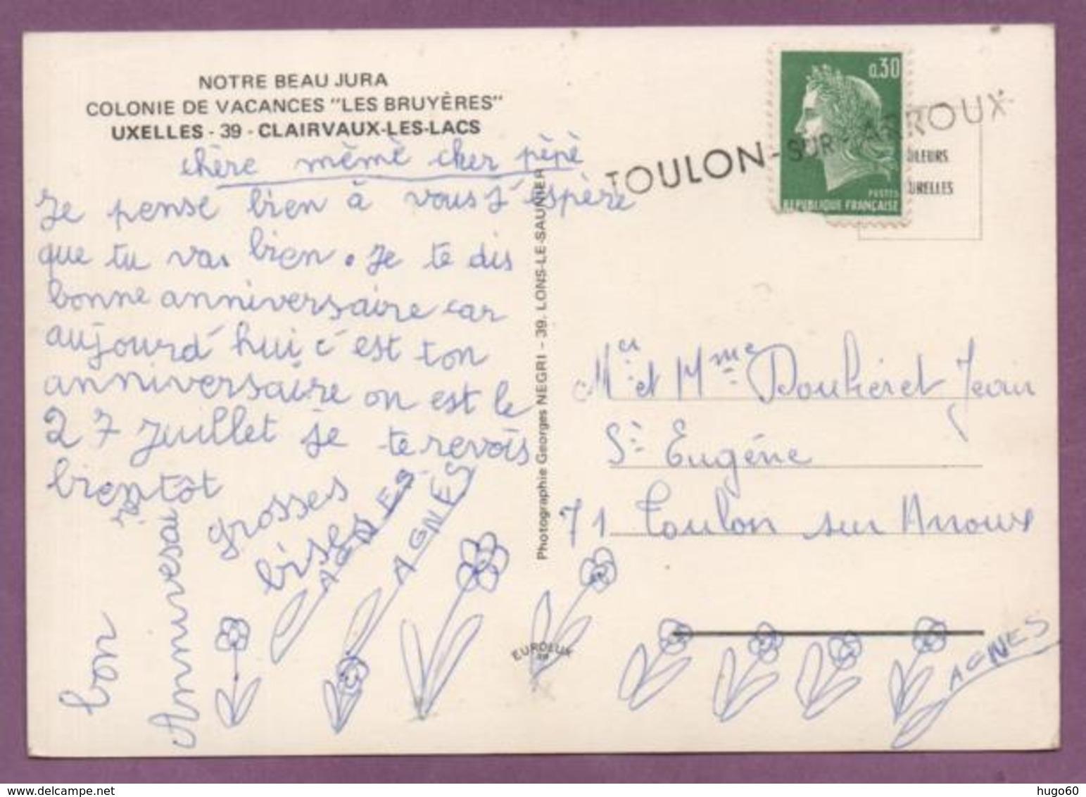 """UXELLES - CLAIVAUX-LES-LACS - Colonie De Vacances Les """"Bruyères"""" - Clairvaux Les Lacs"""