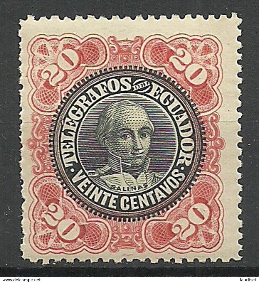ECUADOR Telegrafos Telegraph Stamp 20 C. Balinas MNH - Equateur