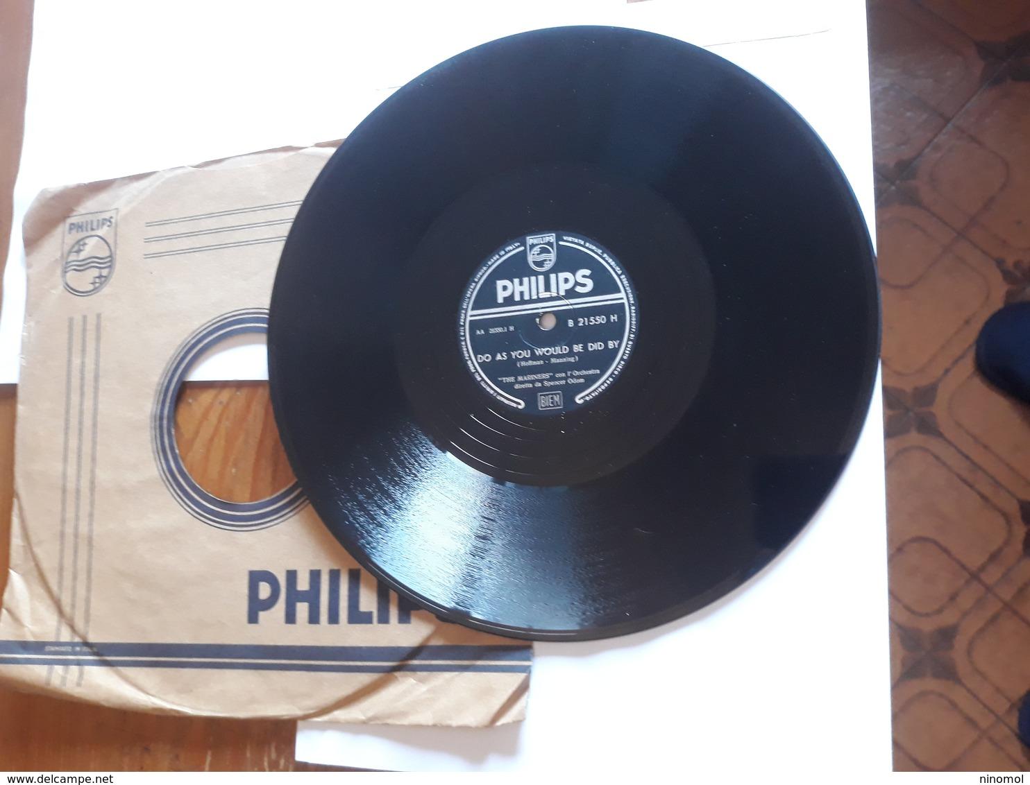 "Philips  -  Nr. B 21550 H -  "" The Mariners "" - 78 G - Dischi Per Fonografi"