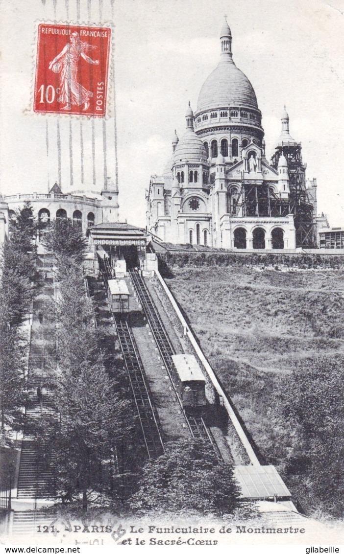 75 - PARIS 18 - PARIS - La Basilique Du Sacre Coeur De Montmartre -  Funiculaire  - Travaux Sur La Basilique - Distretto: 18