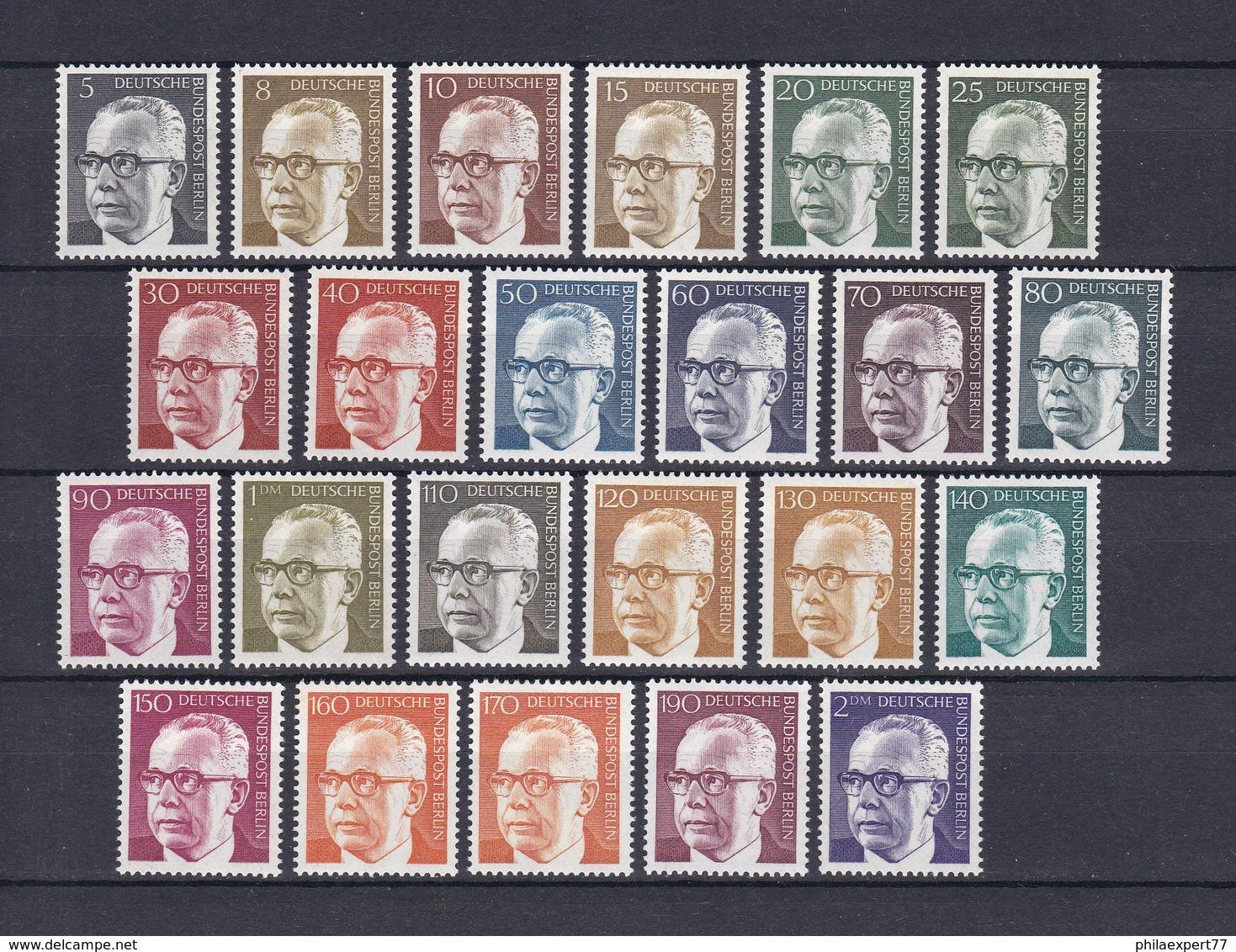 Berlin - 1970/73 - Freimarken: Bundespräsident Heinemann - Postfrisch - 30 Euro - Berlin (West)