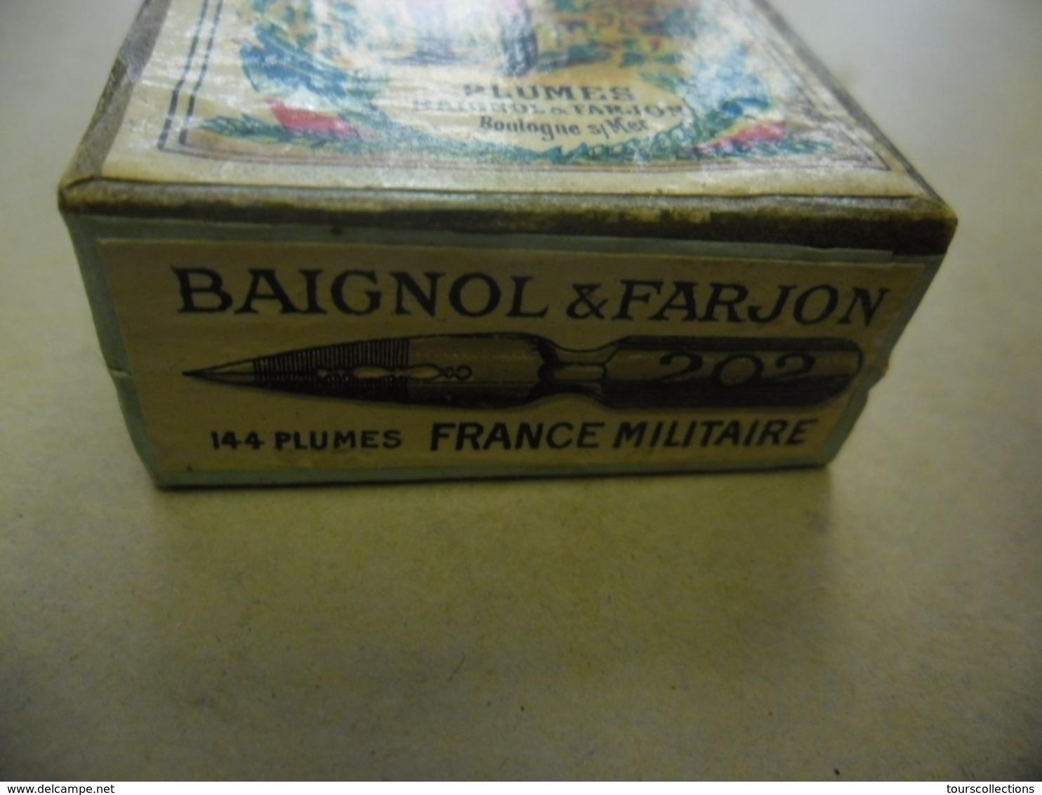 Ancienne Rare Boîte Scellée 144 PLUMES BAIGNOL & FARJON La France Militaire 19° S. CUIRASSIER Hors Concours Paris 1900 - Plumes