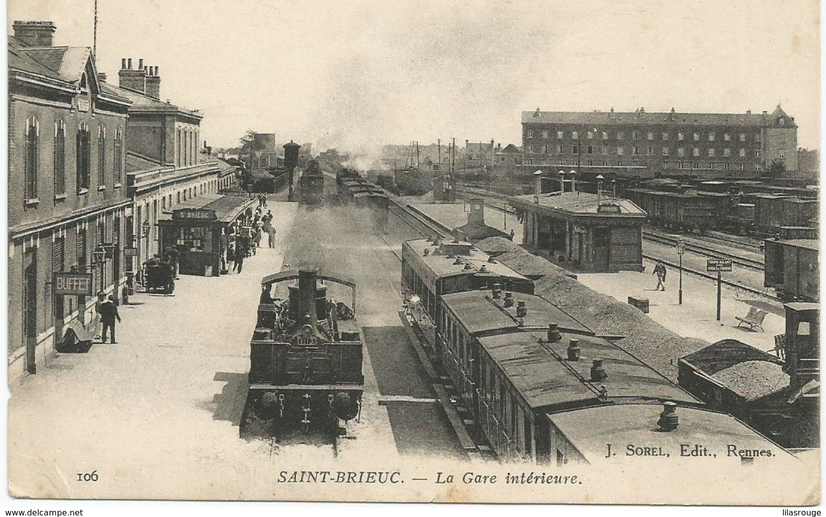 SAINT BRIEUC  LA GARE INTERIEURE - Saint-Brieuc