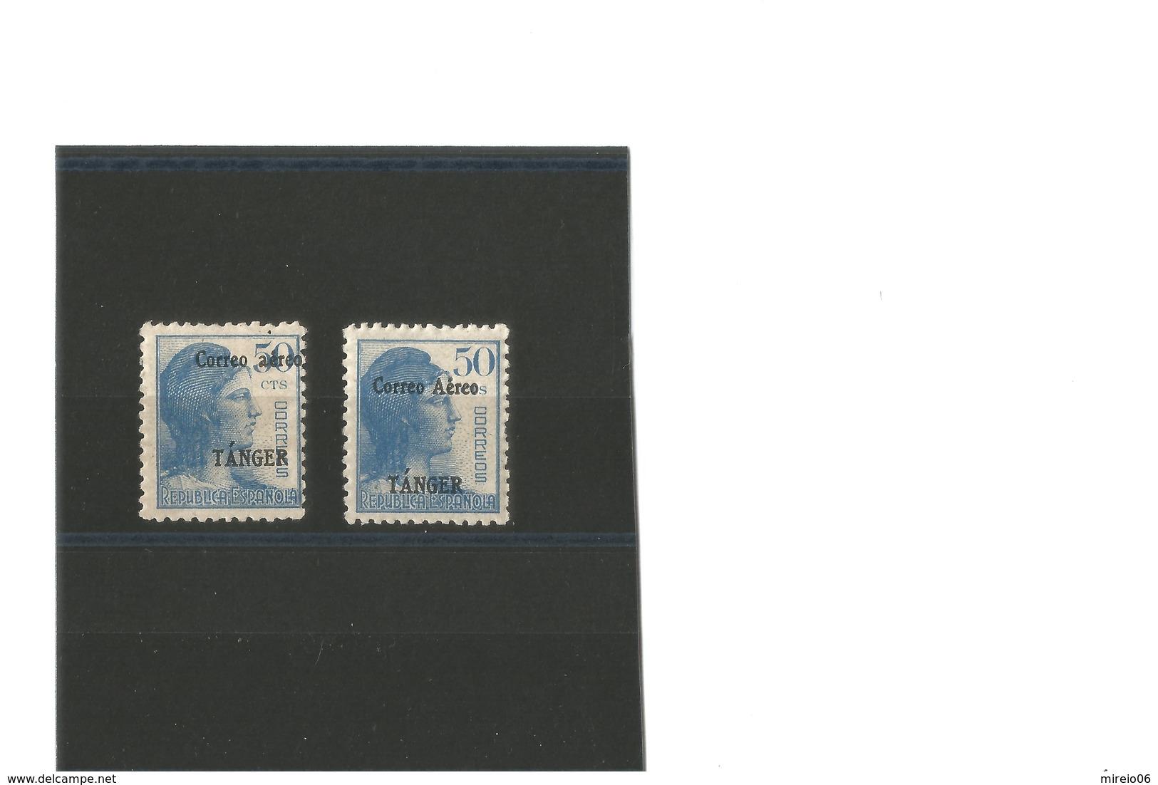 Espagne Tanger PA N°5 Bleu  1939   2 Ex Neufs* - Marruecos Español