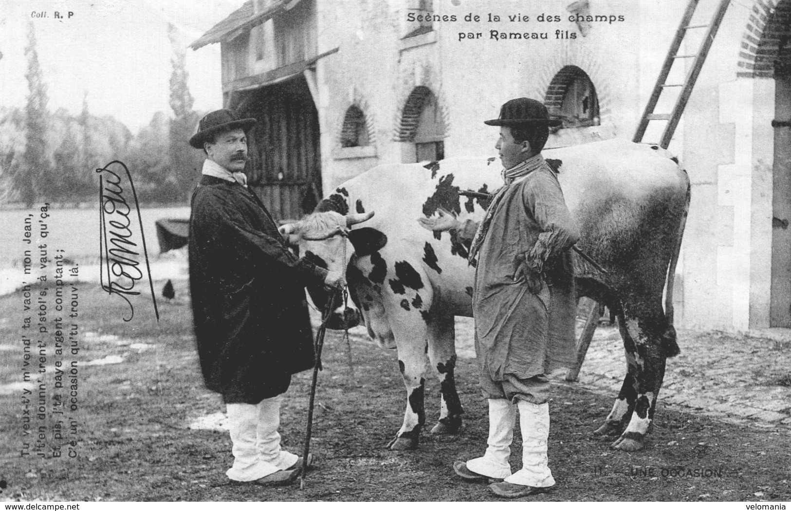 S2126 Cpa 18 Scènes De La Vie Des Champs Par Rameau Fils -  Une Occasion - France