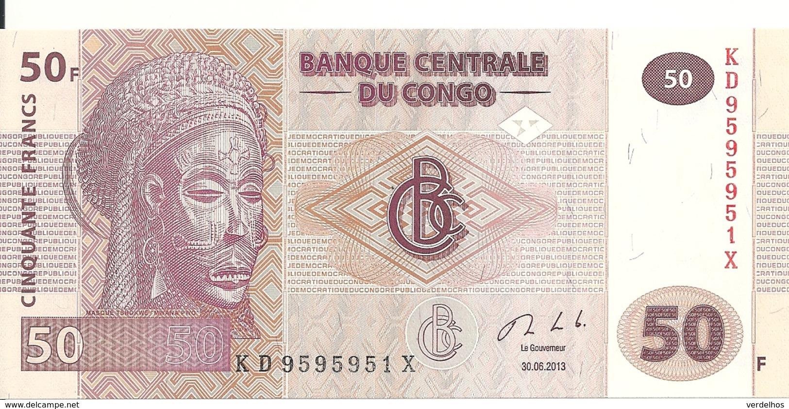 CONGO 50 FRANCS 2013 UNC P 97A - Zonder Classificatie