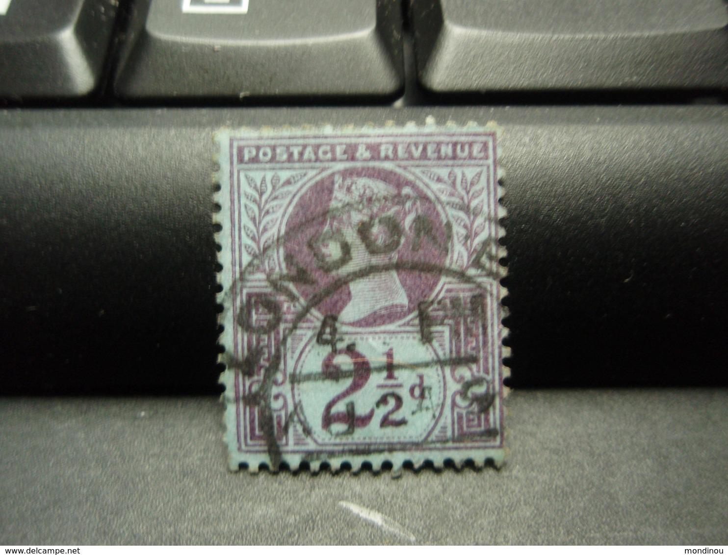 Timbre Victorian 2 1/2 Pence Bleu Violet 2 1/2d  LONDON - Autres - Europe