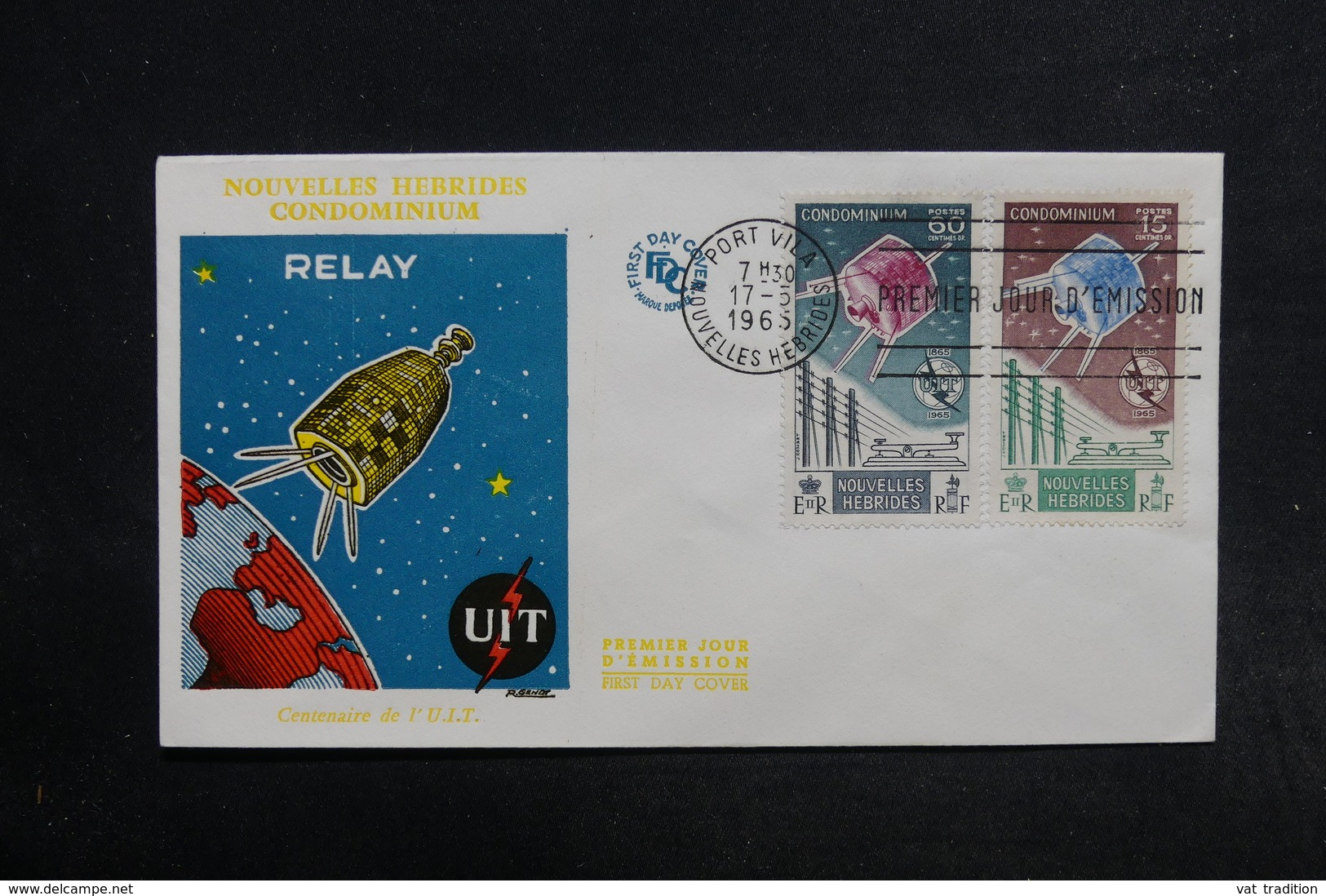 NOUVELLES HÉBRIDES - Enveloppe FDC 1965 , Satellite - L 32160 - FDC