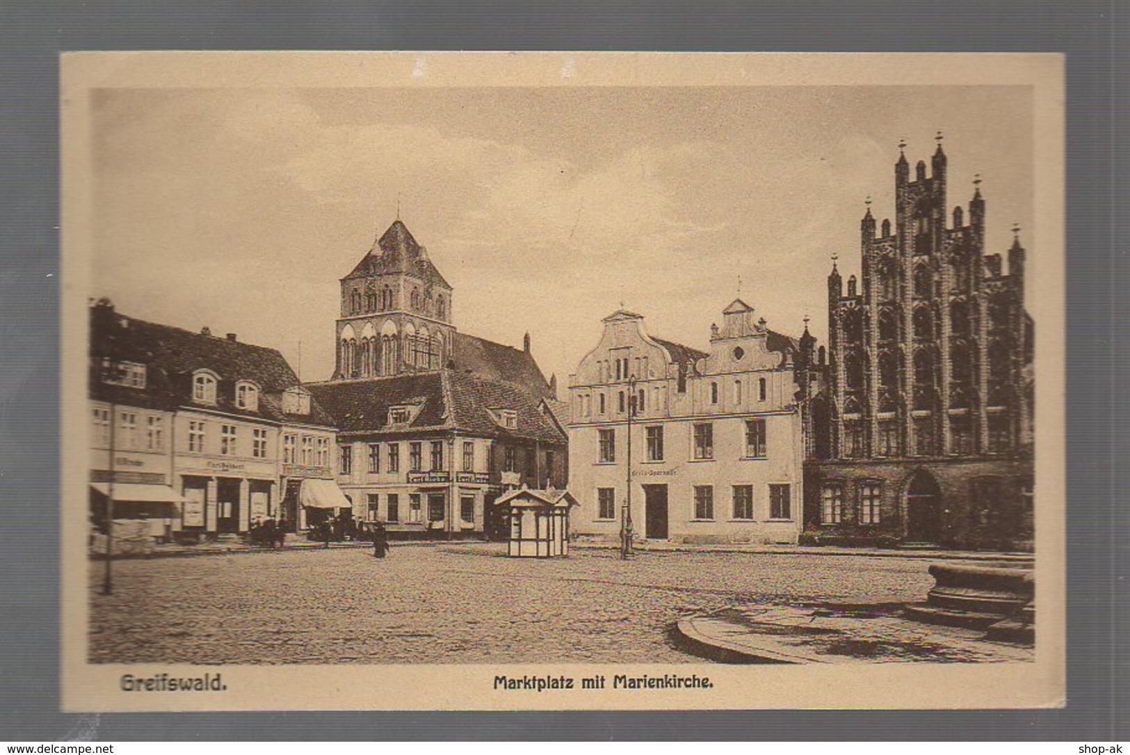 U3281-174./ Greifswald Marktplatz AK Ca.1912 - Ohne Zuordnung