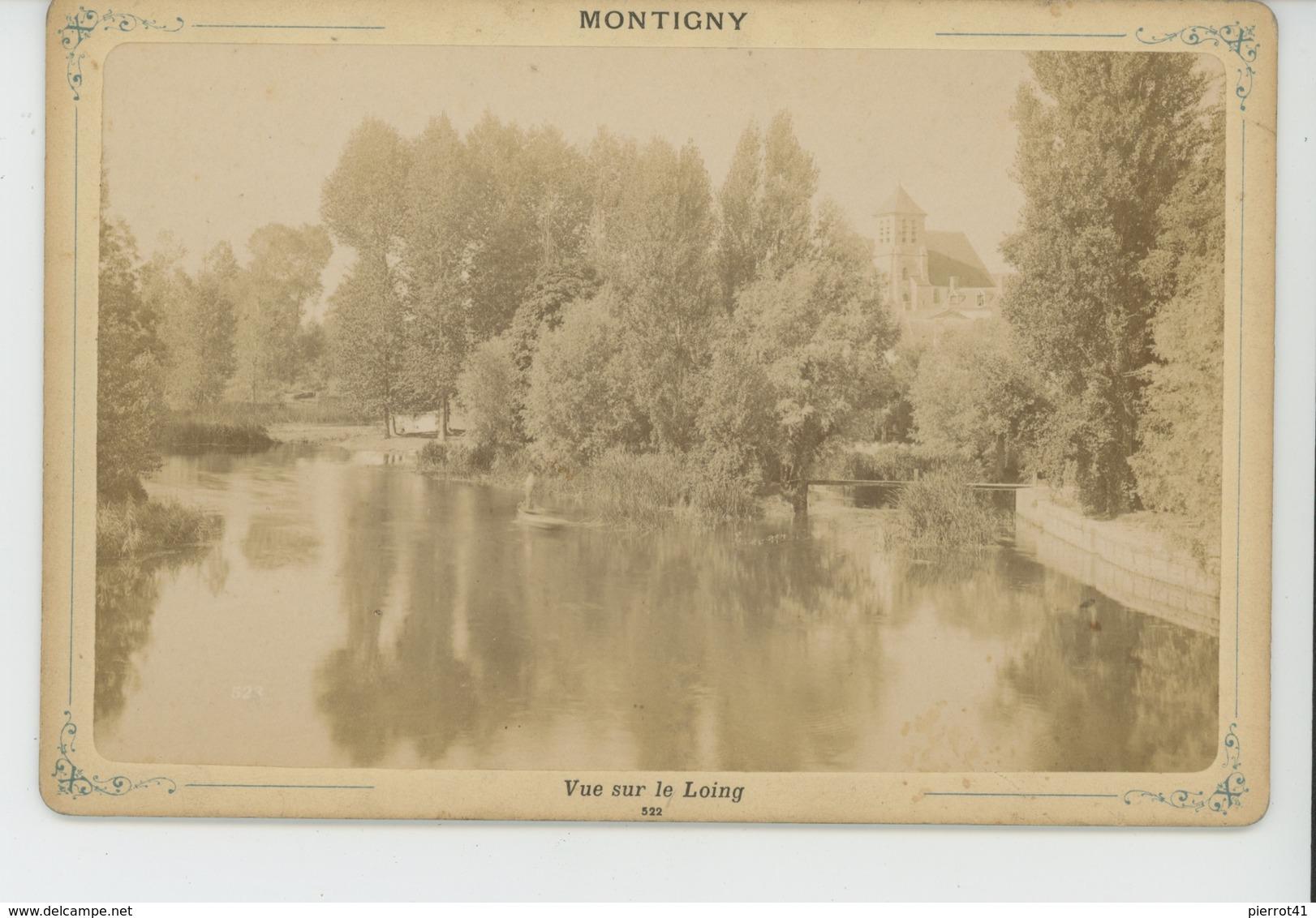 MONTIGNY - Vue Prise Sur Le Loing - Cliché Sur Support Cartonné Format Hors Tout  16,5X10,8 CM - Montigny Le Bretonneux