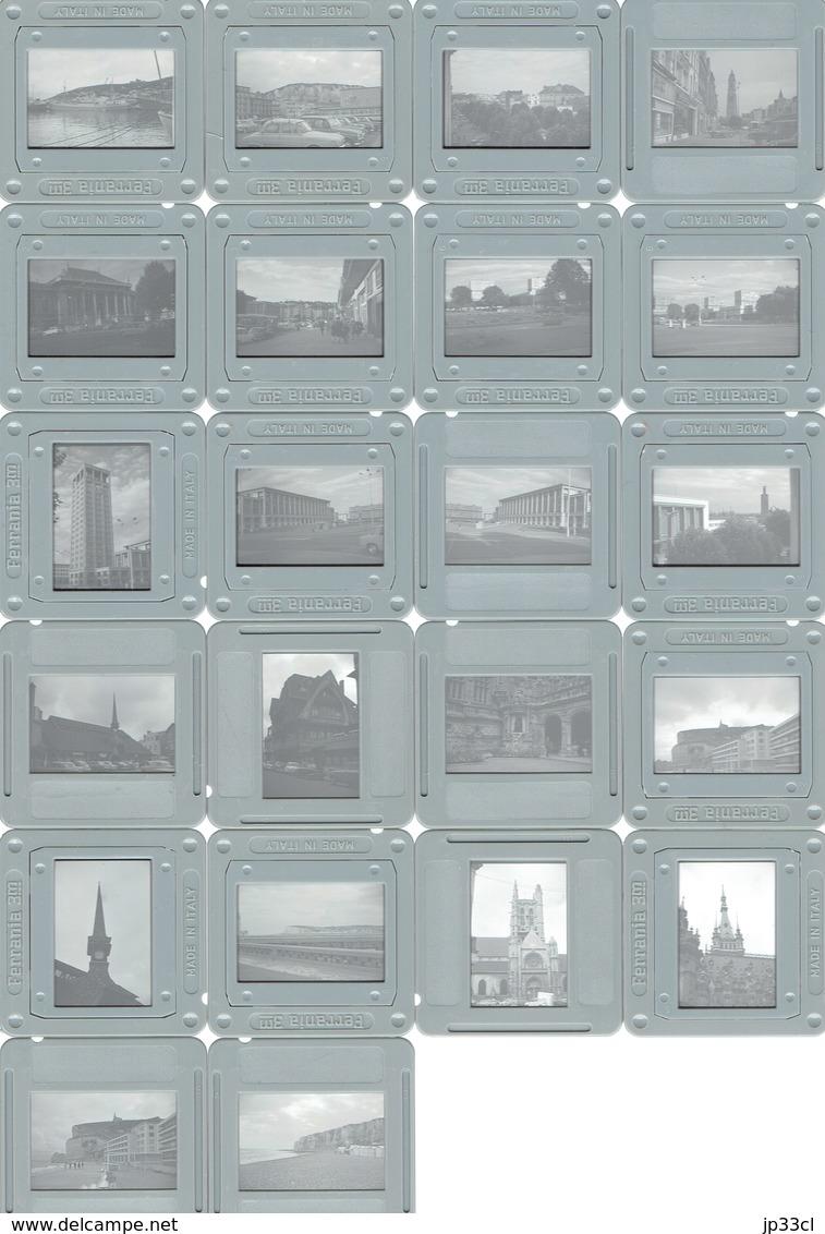 Lot De 22 Diapositives Couleurs De Normandie : Le Havre, Etretat (années 1970)) - Dias