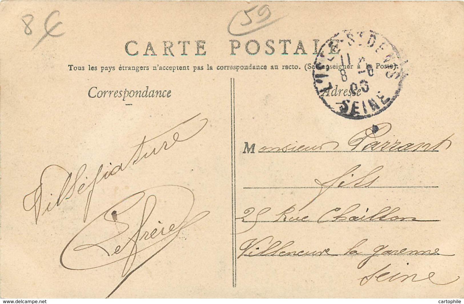 59 - AUBENCHEUL AU BAC - Le Chateau Animée En 1906 - France