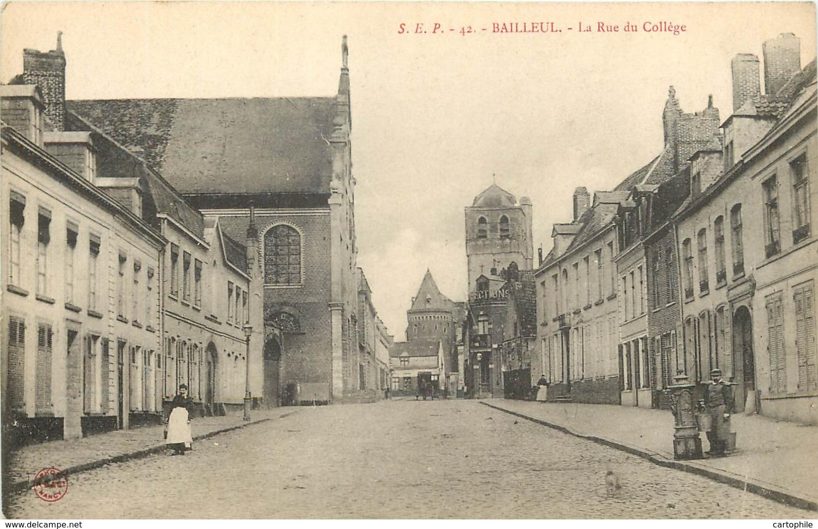 59 - BAILLEUL - La Rue Du Collège - Autres Communes
