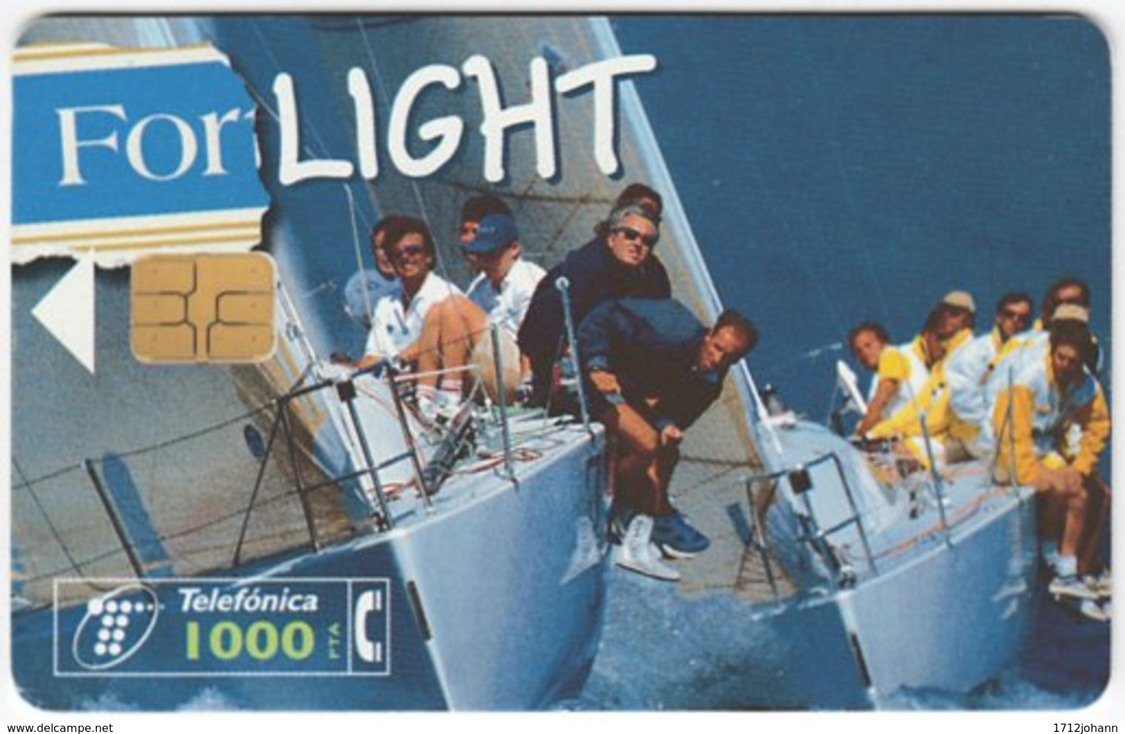SPAIN B-412 Chip Telefonica - Leisure, Sailing - Used - Ohne Zuordnung