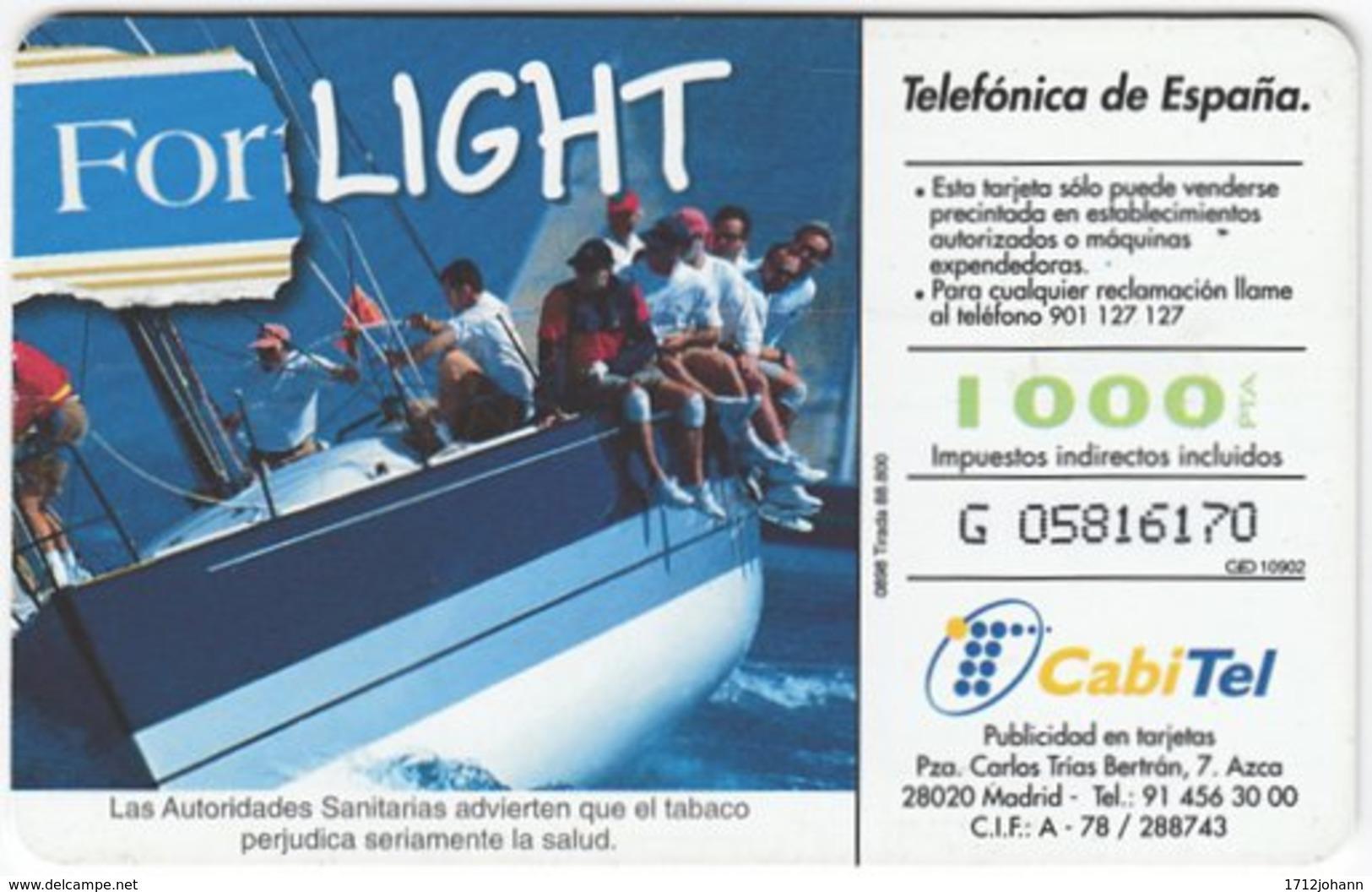 SPAIN B-412 Chip Telefonica - Leisure, Sailing - Used - Spanien