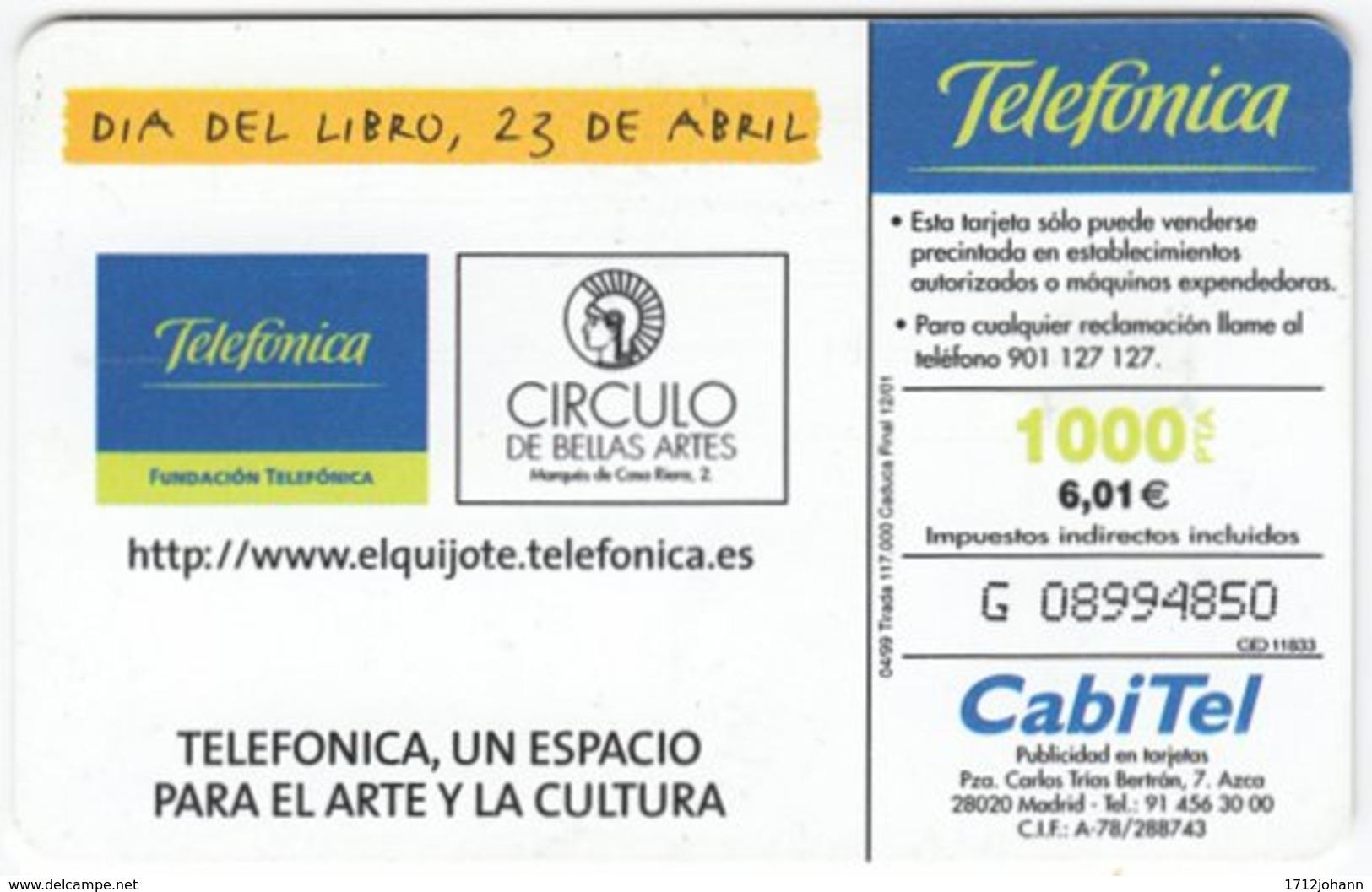 SPAIN B-414 Chip Telefonica - Cartoon - Used - Ohne Zuordnung