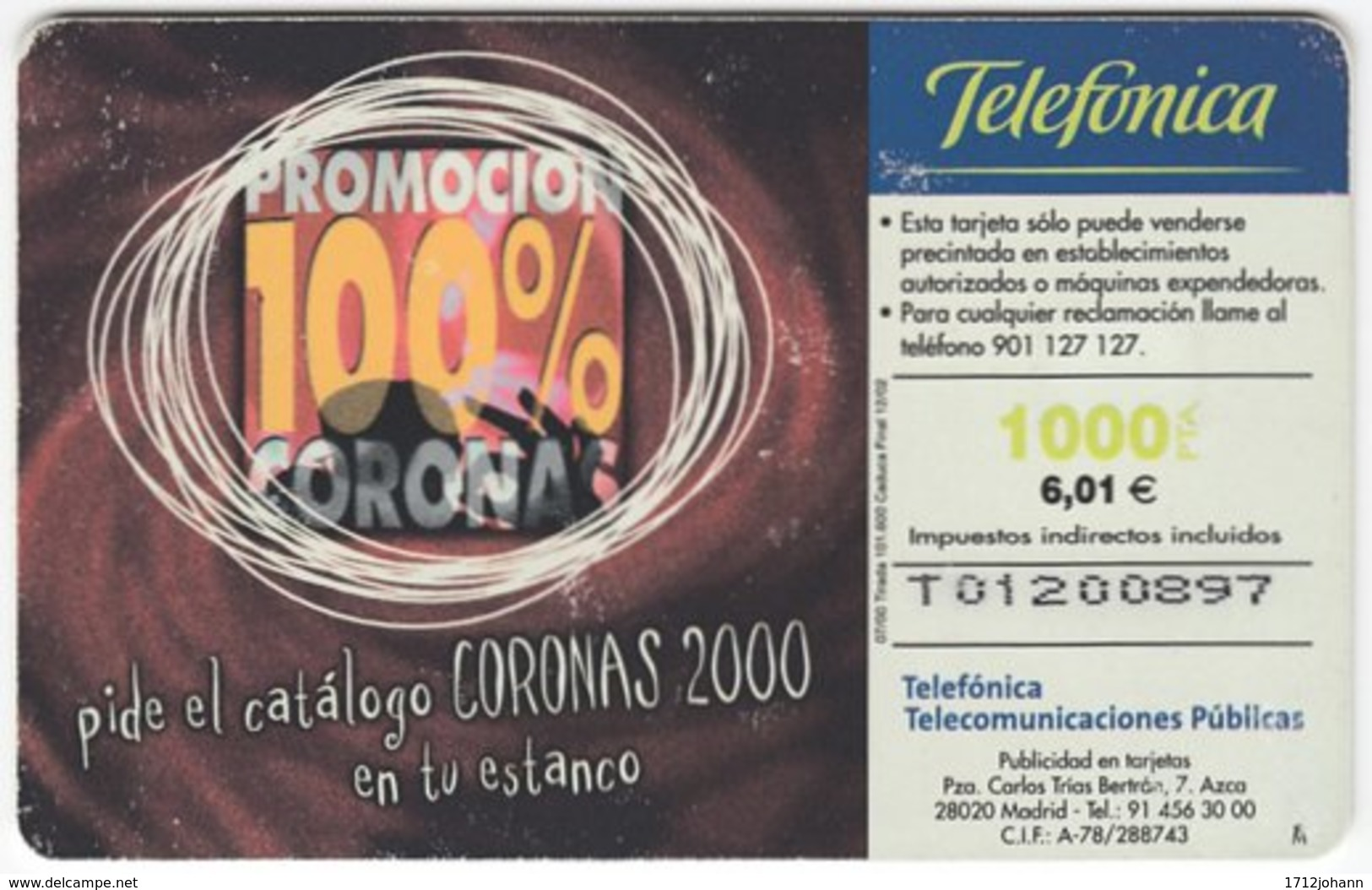 SPAIN B-440 Chip Telefonica - Used - Ohne Zuordnung