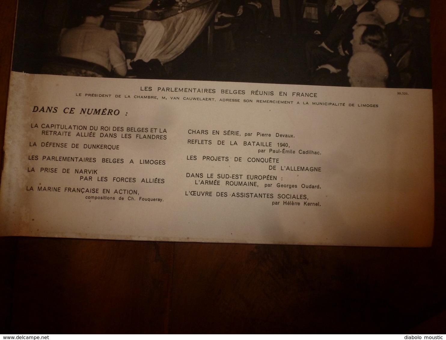 1940 L'ILLUSTRATION :La Marine Française En Action ; La Défense De Dunkerque; Prise De Narvik; Armée Roumaine; Etc - Journaux - Quotidiens