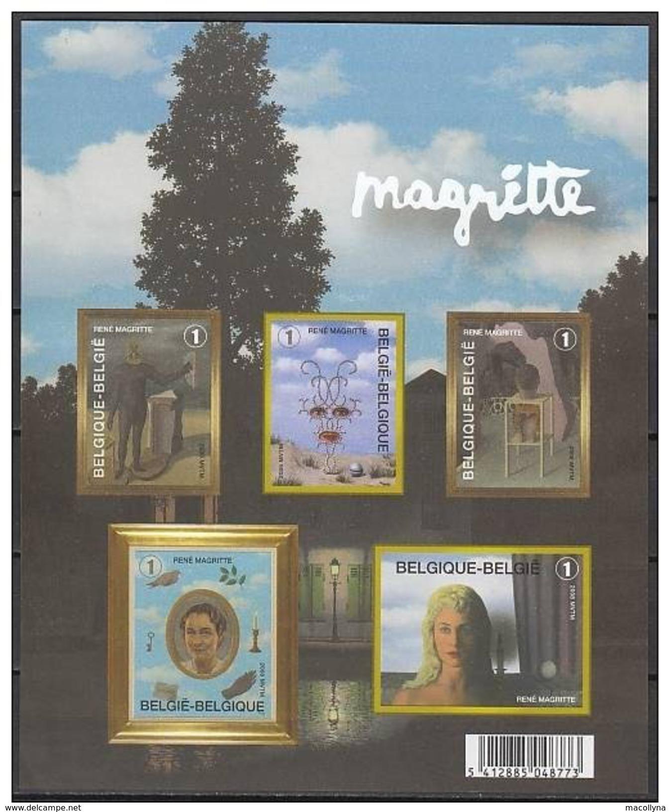 Bloc 151** René Magritte Feuille Non Dentelée - Blok 151 MNH Ongetand - Imperforated Sheet - Imperforates