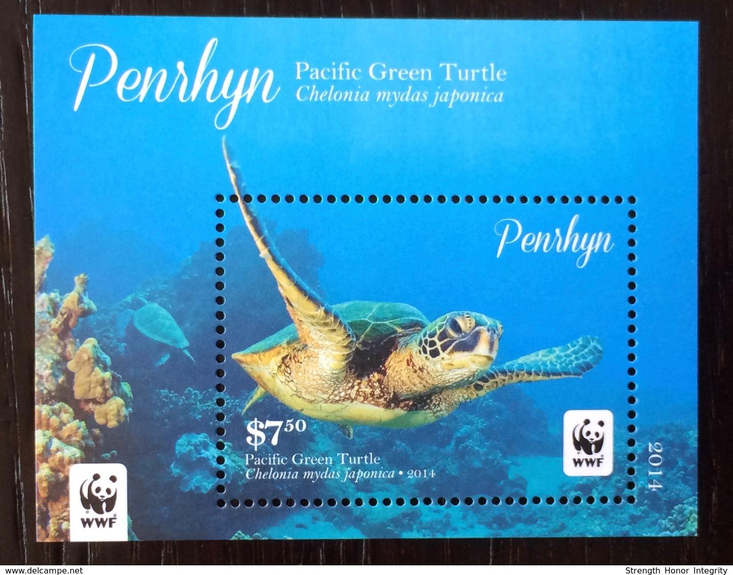 Penrhyn - Cook Islands 2014; WWF Animals & Fauna; Marine Life, Turtles; MNH /** VF; - W.W.F.
