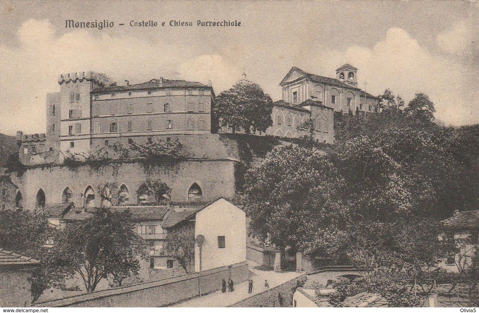 MONESIGLIO - CASTELLO E CHIESA PARROCCHIALE - Cuneo