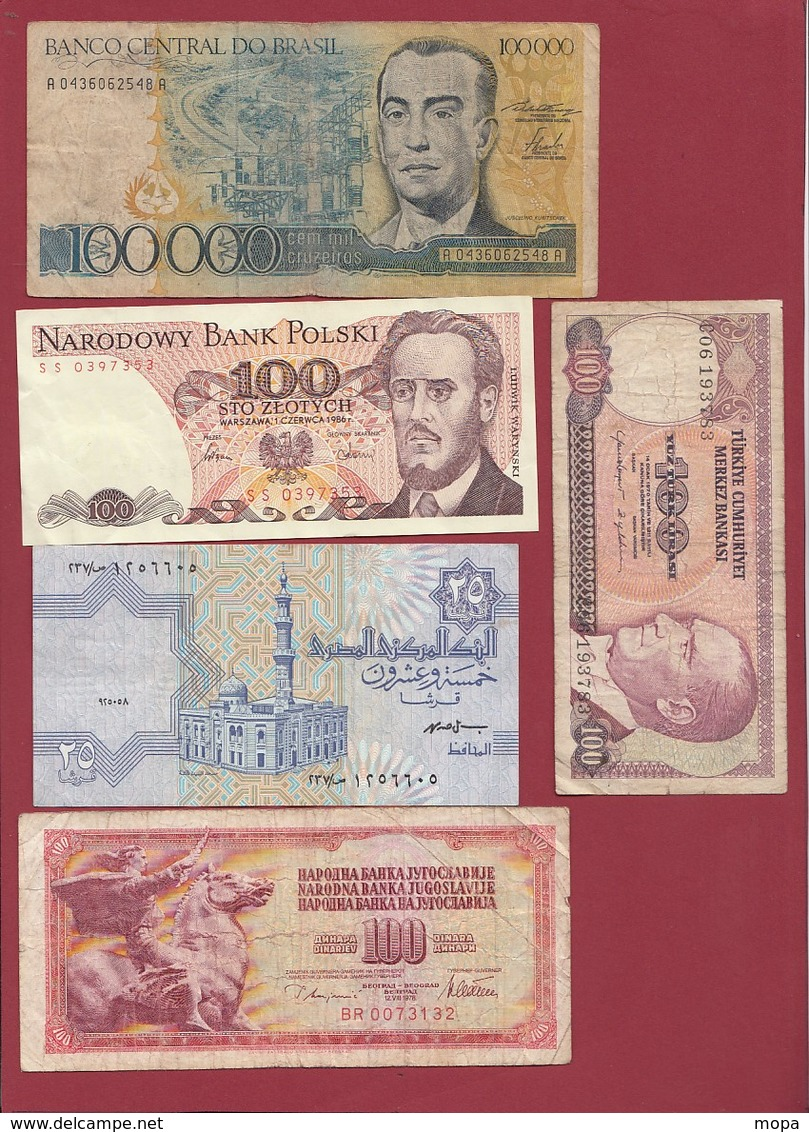 Pays Du Monde 40 Billets Dans L 'état Lot N °3 - Coins & Banknotes