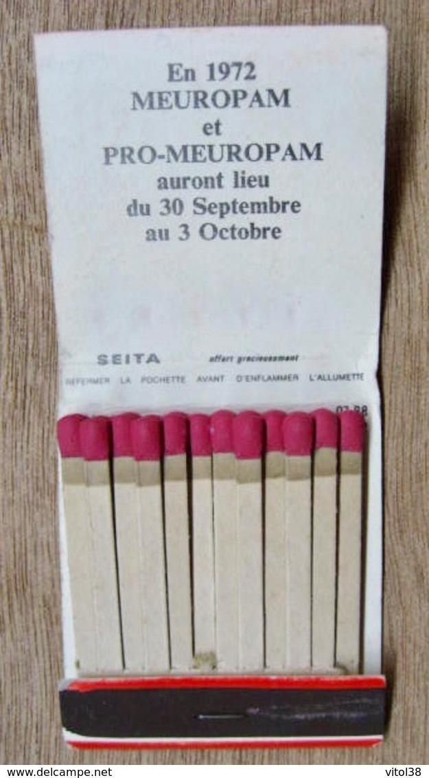 POCHETTE D'ALLUMETTES PRO MEUROPAM A LYON 71 ET EN 1972 MEUROPAM ET PRO -MEUROPAM - Boites D'allumettes