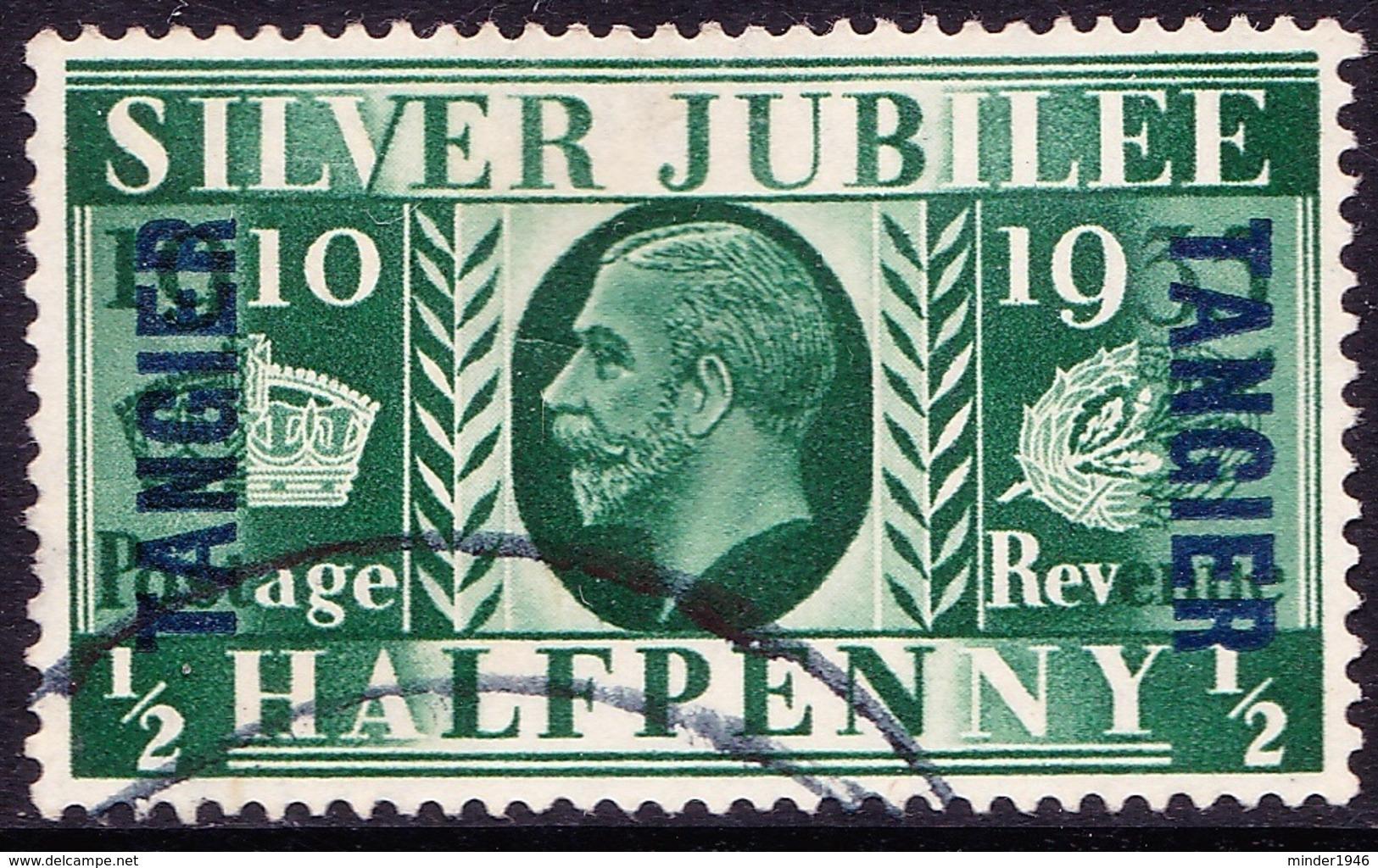 TANGIER 1935 KGV 1/2d Green SG238 FU - Uffici In Marocco / Tangeri (…-1958)