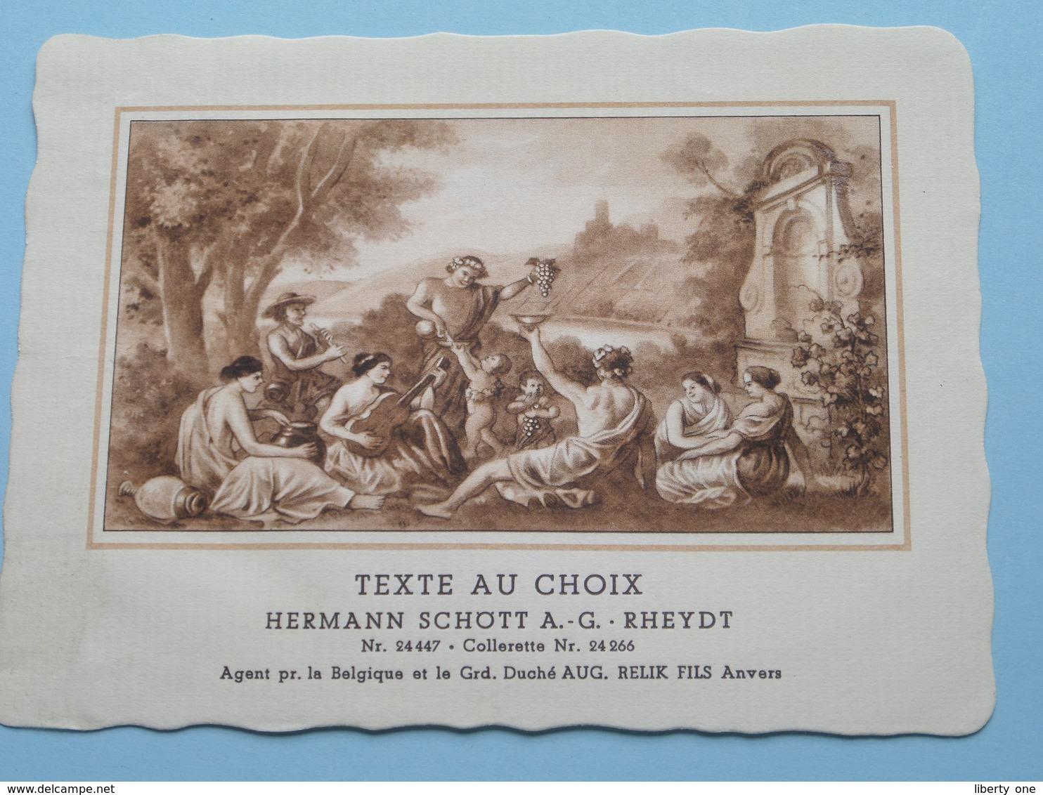 TEXTE Au CHOIX Nr.24447 > 24266 Hermann Schött RHEYDT > Aug. RELIK Anvers (  Voir Foto / Format +/- 13,5 X 10,5 Cm.) ! - Unclassified