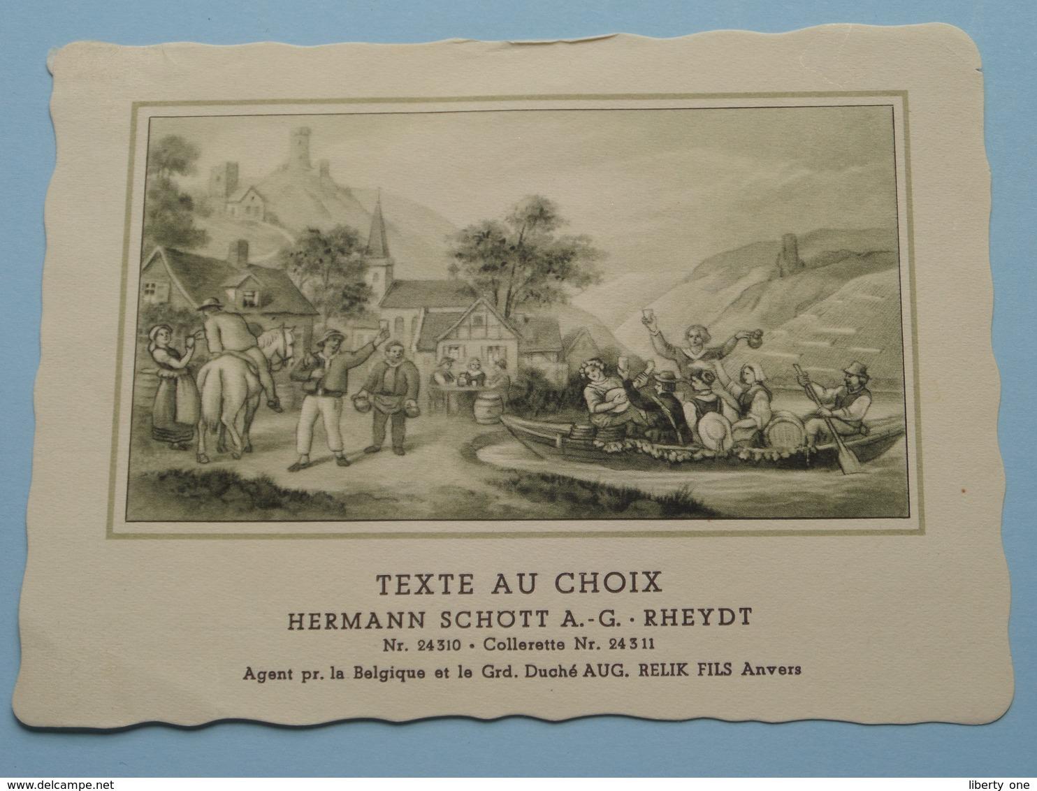 TEXTE Au CHOIX Nr.24310 > 24311 Hermann Schött RHEYDT > Aug. RELIK Anvers ( Voir Foto / Format +/- 13,5 X 10,5 Cm.) ! - Unclassified