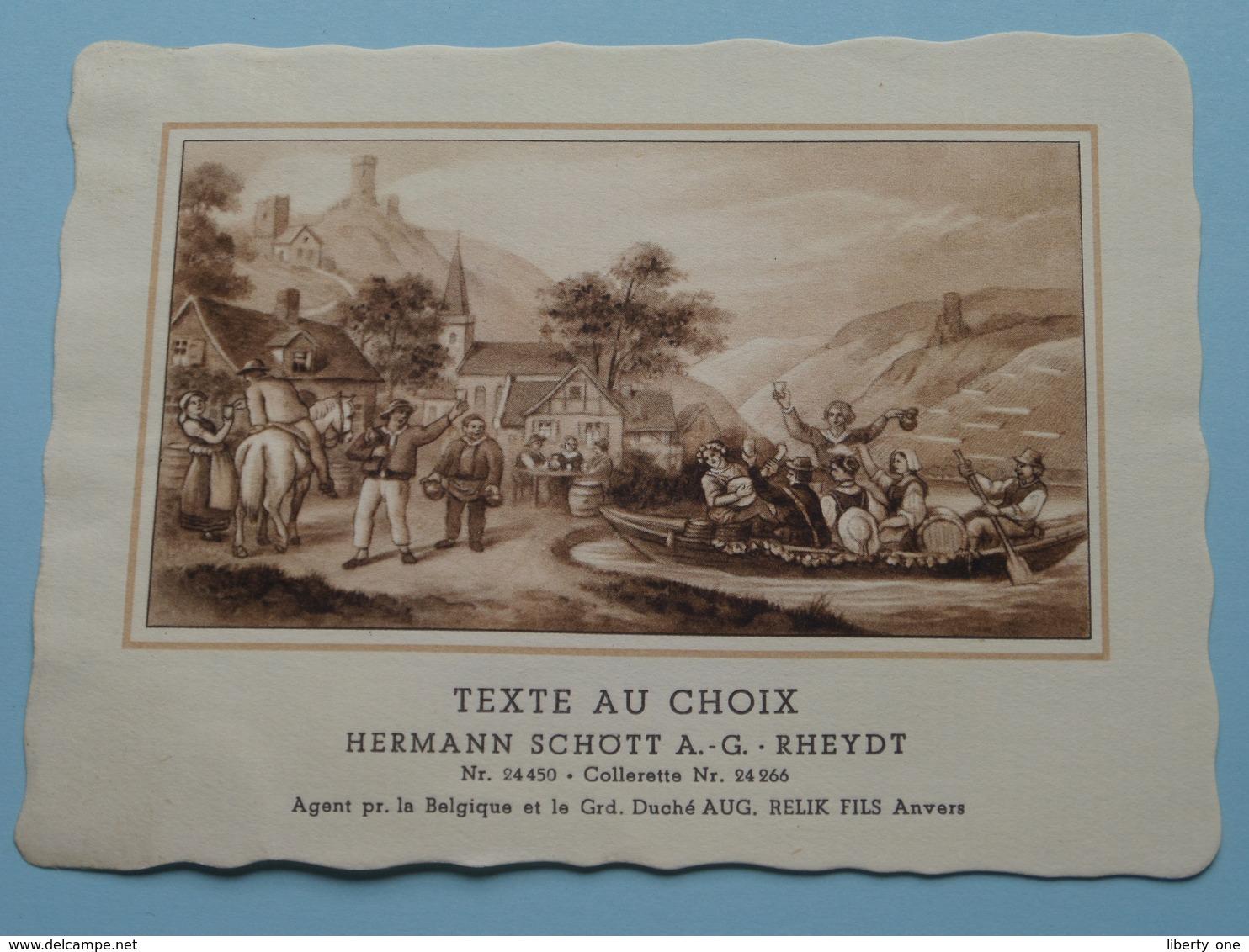 TEXTE Au CHOIX Nr.24450 > 24266 Hermann Schött RHEYDT > Aug. RELIK Anvers ( Voir Foto / Format +/- 13,5 X 10,5 Cm.) ! - Unclassified