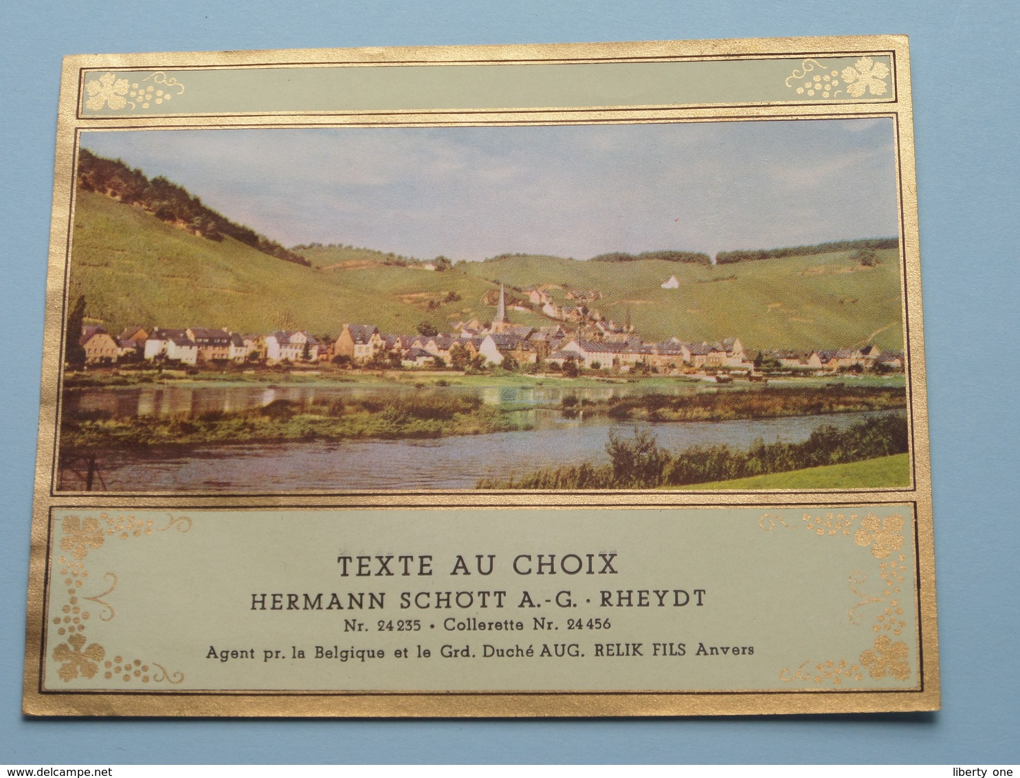 TEXTE Au CHOIX Nr.24235 > 24456 Hermann Schött RHEYDT > Aug. RELIK Anvers ( Zie/voir Foto / Format +/- 12,5 X 10 Cm. ) ! - Unclassified