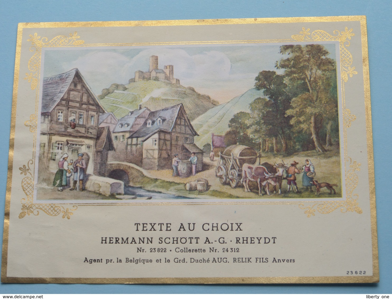 TEXTE Au CHOIX Nr.23822 > 24312 Hermann Schött RHEYDT > Aug. RELIK Anvers ( Zie/voir Foto / Format +/- 13,5 X 10 Cm. ) ! - Unclassified