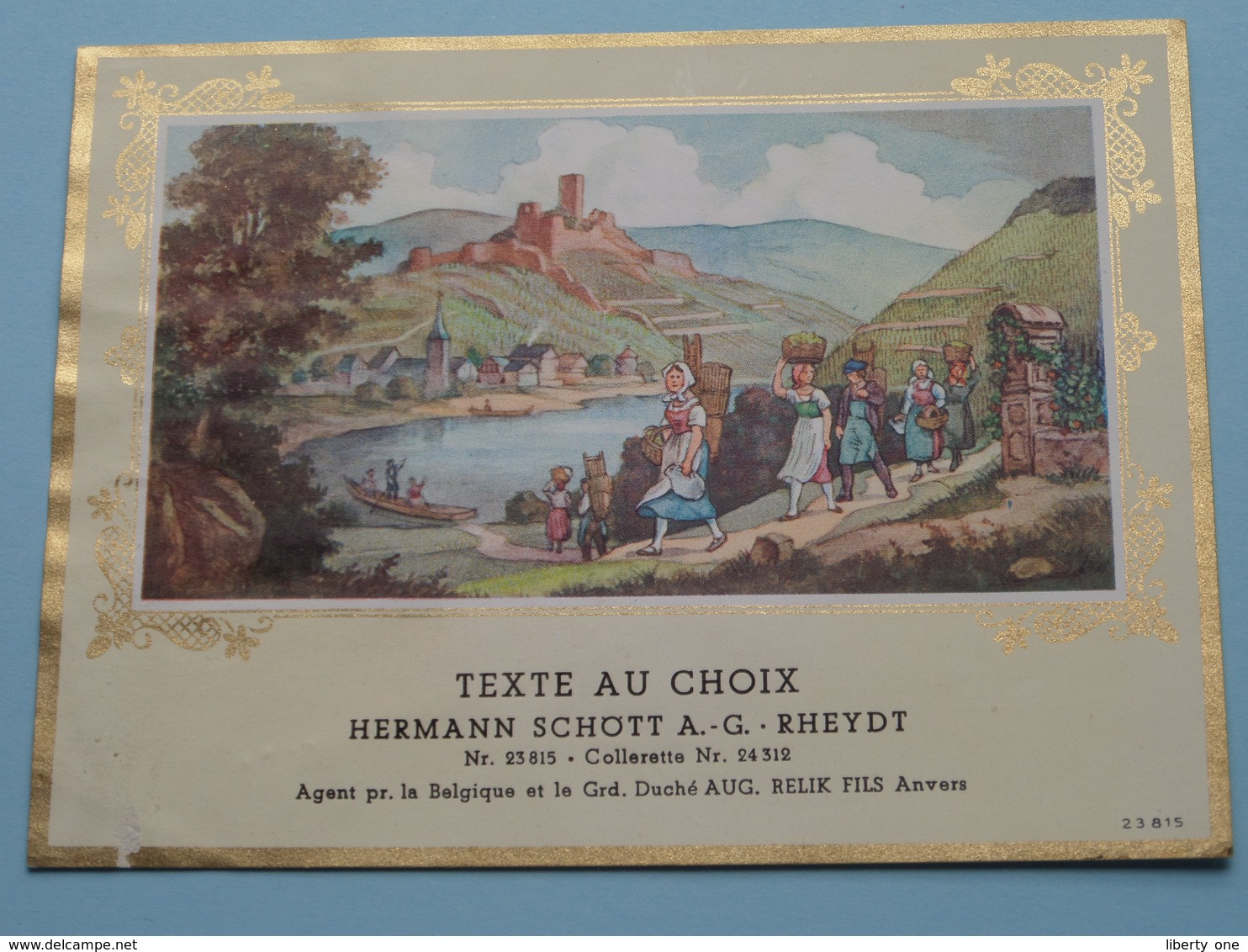 TEXTE Au CHOIX Nr.23815 > 24312 Hermann Schött RHEYDT > Aug. RELIK Anvers ( Zie/voir Foto / Format +/- 13,5 X 10 Cm. ) ! - Unclassified