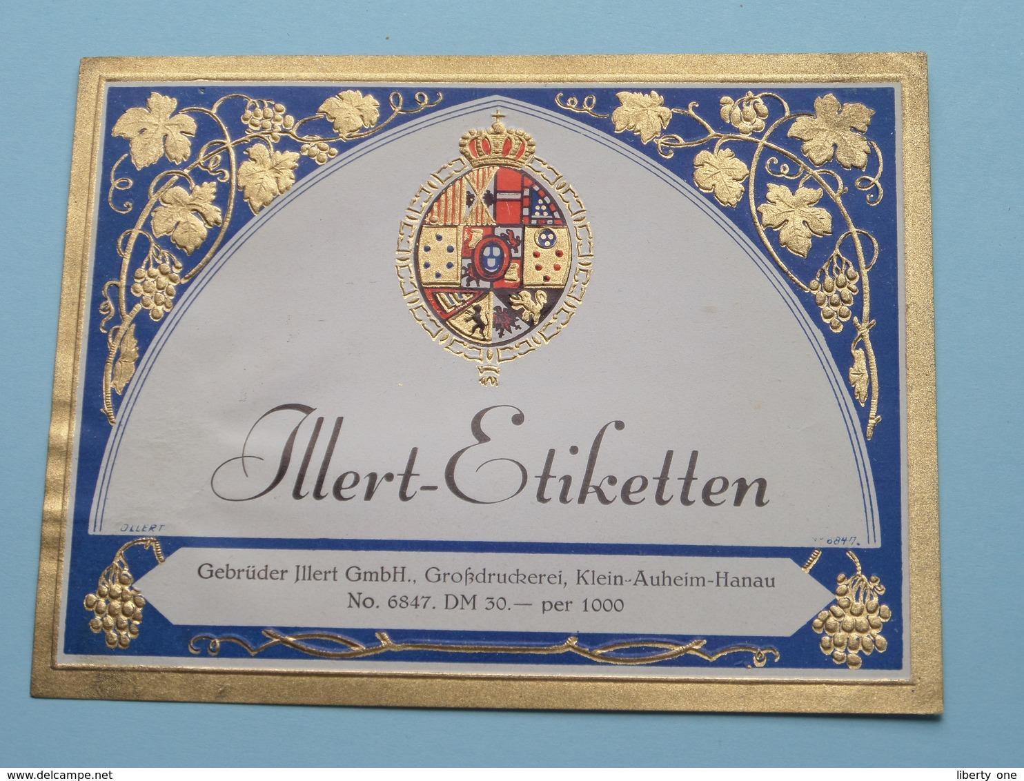 ILLERT-Etiketten Gebrüder Illert Klein-Auheim-Hanau N° 6847 ( See/Zie/voir Photo / Format +/- 12,5 X 10 Cm. ) ! - Unclassified
