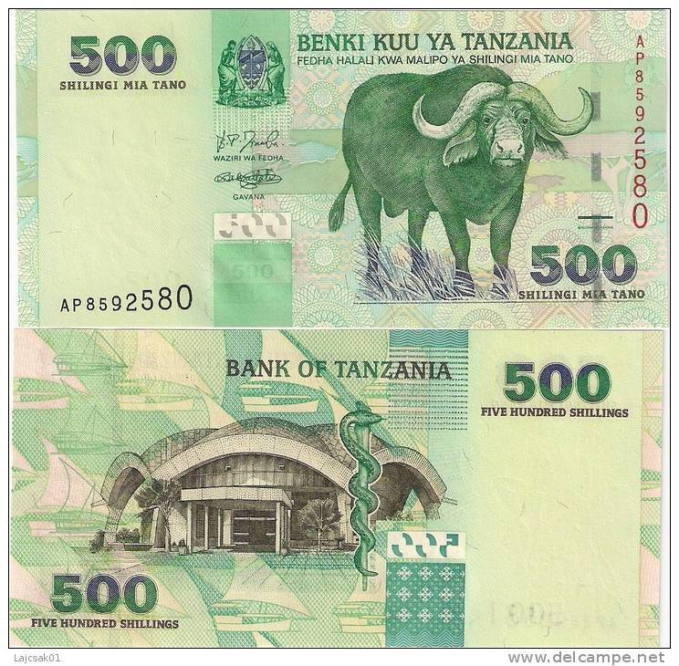 Tanzania 500 Shilingi 2003. UNC - Tanzania
