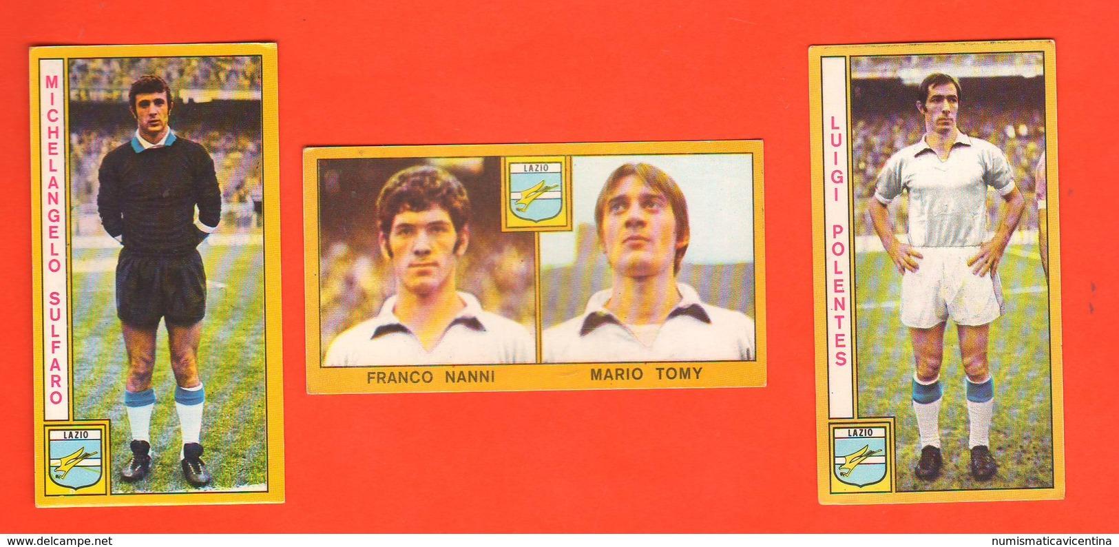 Calcio PANINI 3 Figurine Squadra LAZIO Campionati 1969 - 70 Calciatori NANNI TOMY SULFARO POLENTES - Edizione Italiana