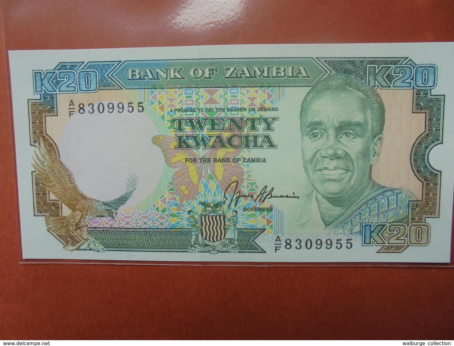 ZAMBIE 20 KWACHA 1989-91 PEU CIRCULER/NEUF - Zambie
