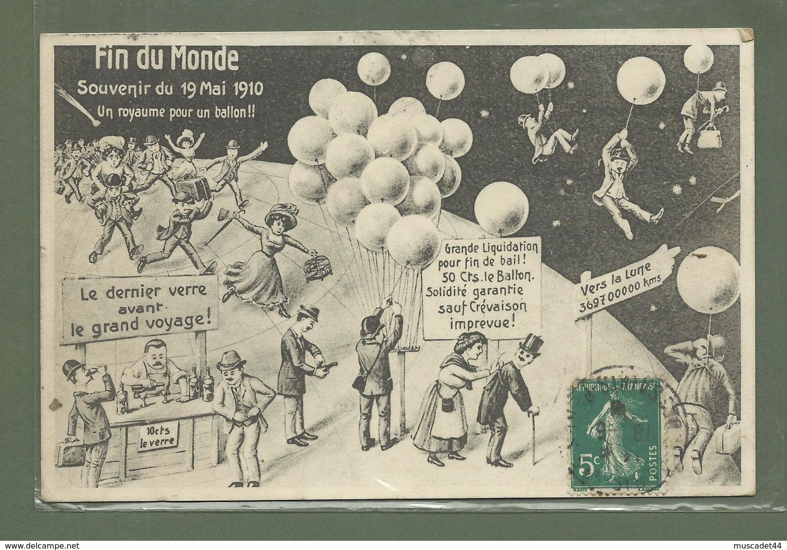 CARTE POSTALE FIN DU MONDE SOUVENIR DU 19 MAI 1910 UFOLOGIE - Other