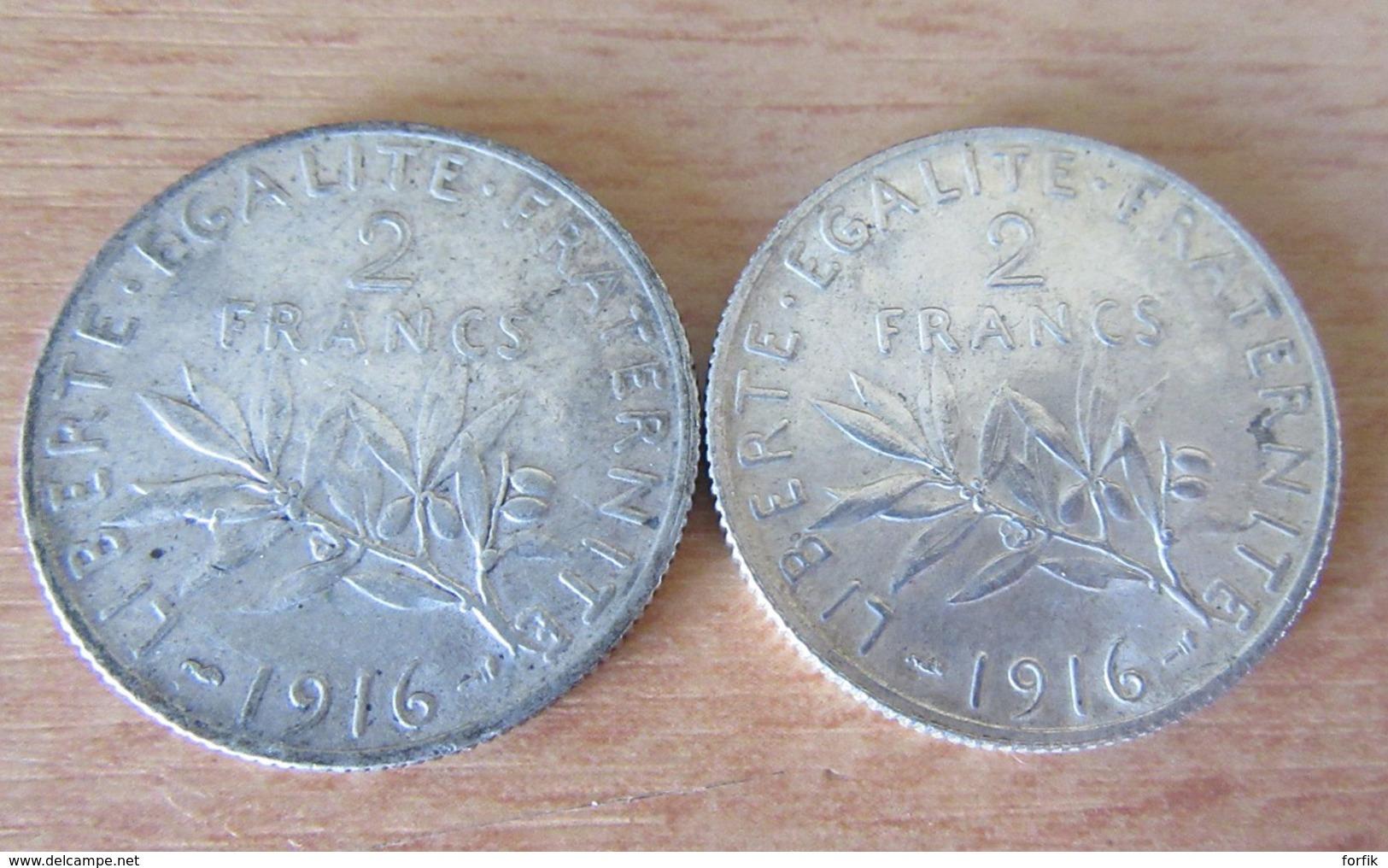 France - 13 Monnaies En Argent Début 20e Siècle - 1fr 2fr 10fr 20fr + Curiosité 2 Francs 1902 Faux D'époque, Voir Détail - Francia