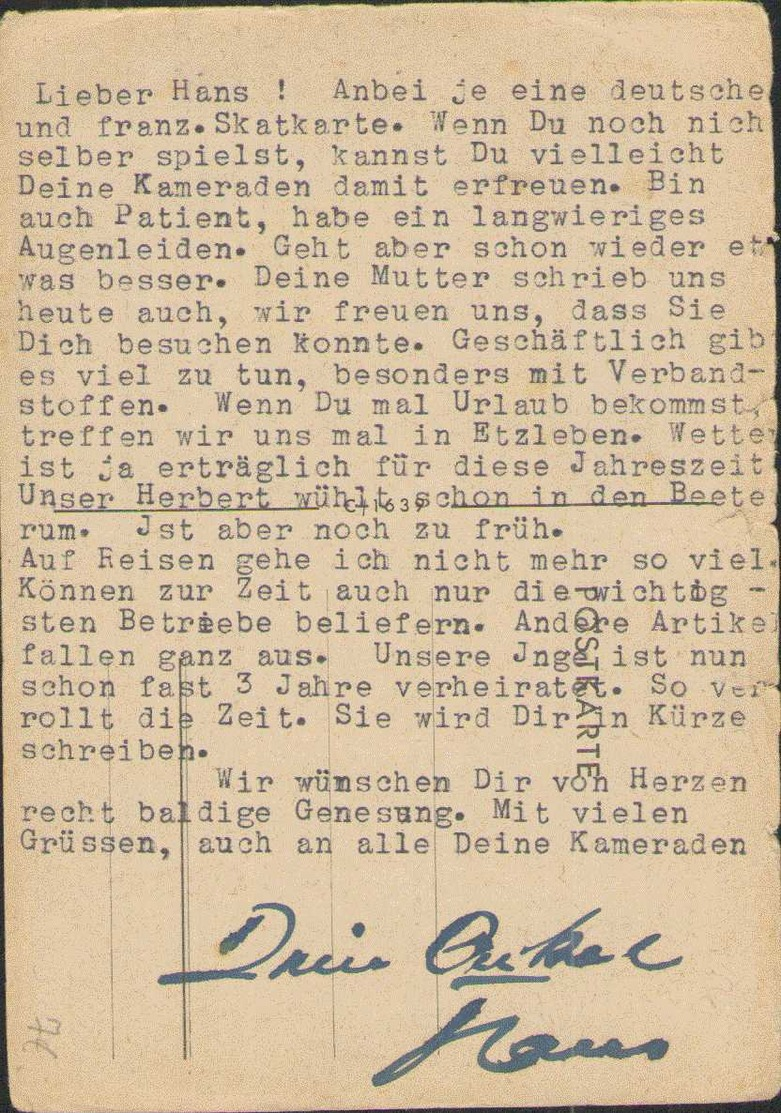 Landdienst Der Hitlerjugend, Propaganda-Postkarte, Drittes Reich - Guerre 1939-45