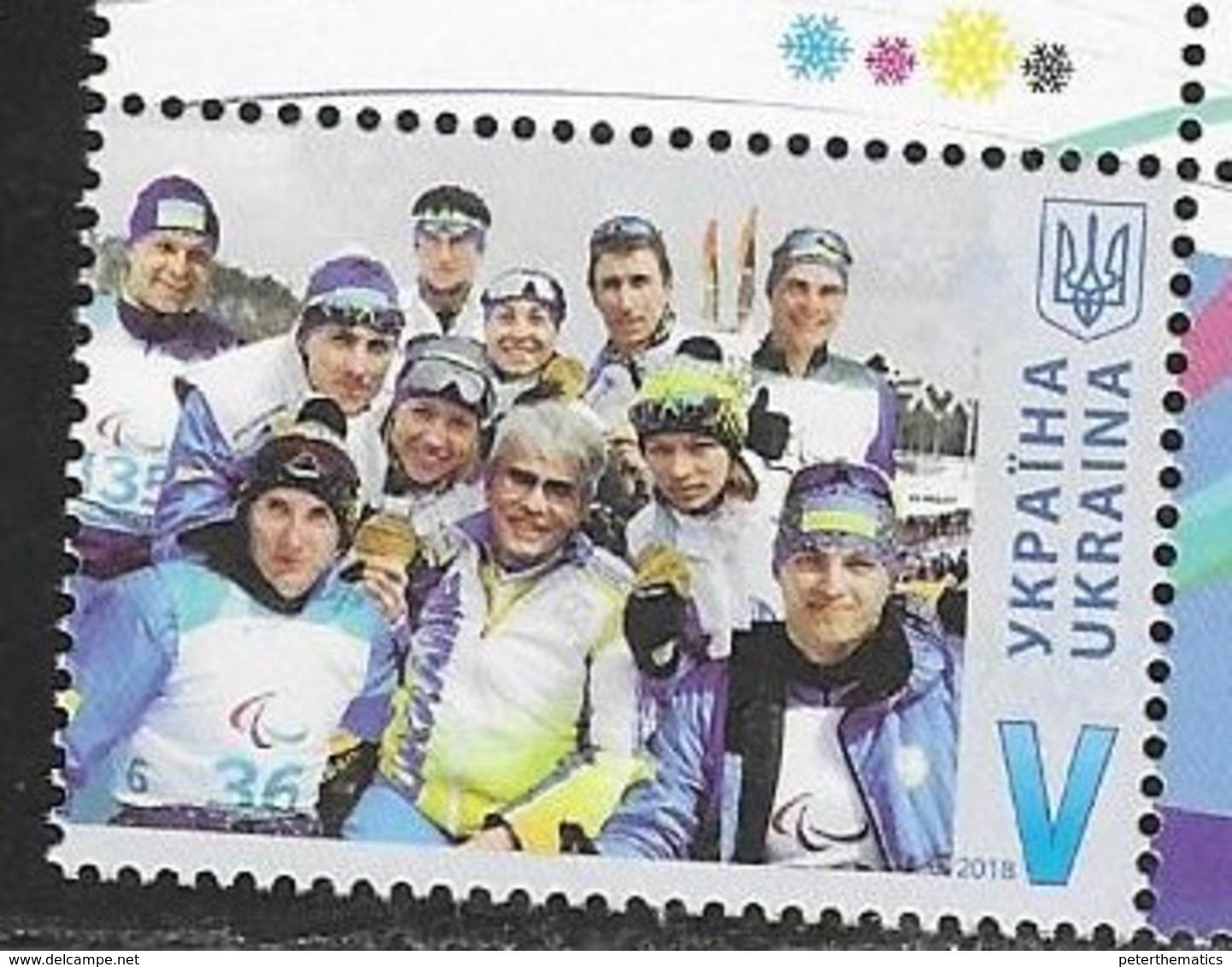 UKRAINE, 2018, MNH, WINTER OLYMPICS, PYEONGCHANG,1v - Winter 2018: Pyeongchang